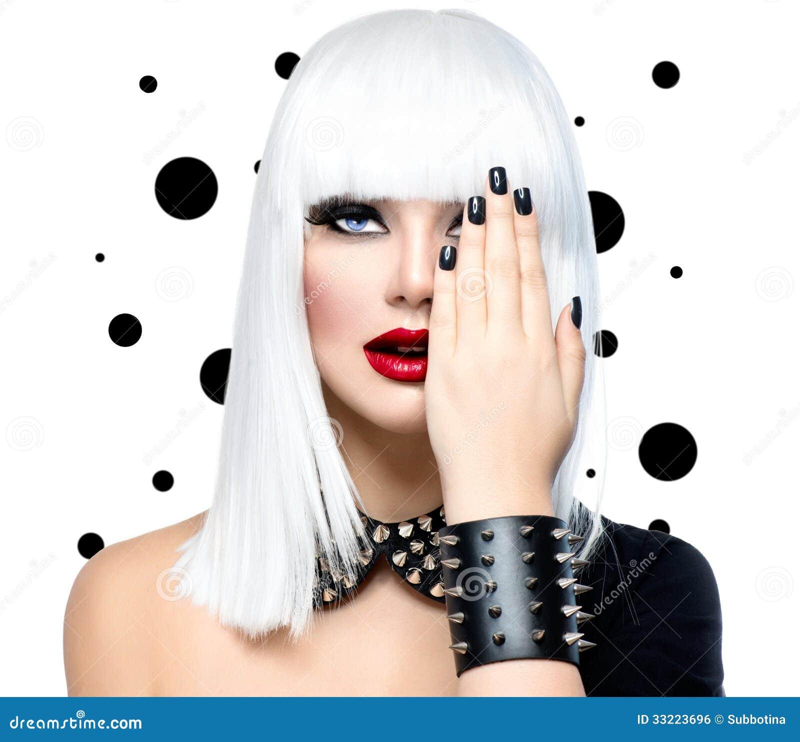 Modelo Girl de la belleza de la moda