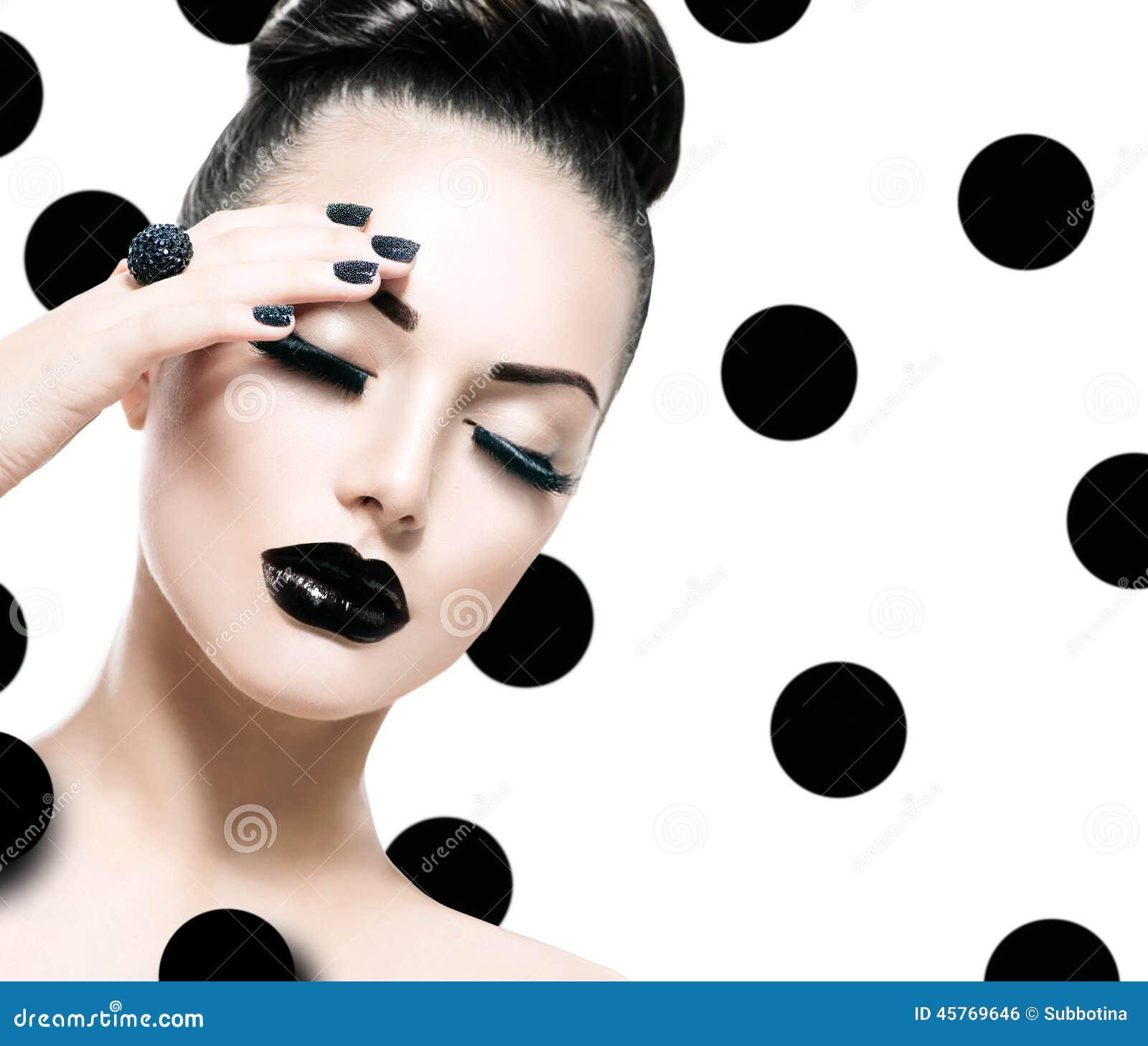 Modelo Girl del estilo de Vogue