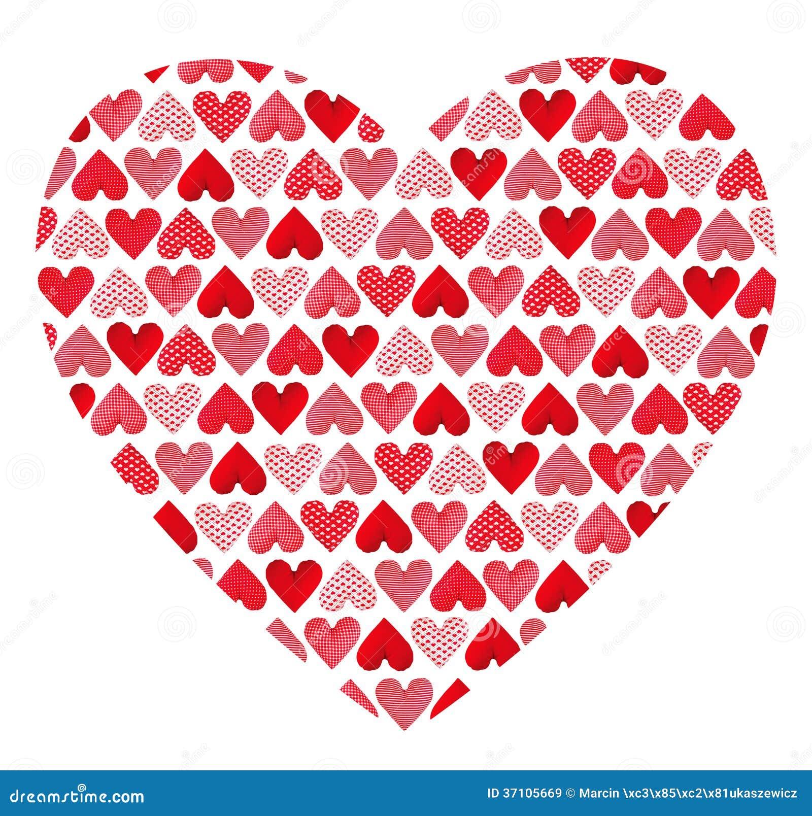 Modelo hecho de corazones. Día de tarjetas del día de San Valentín