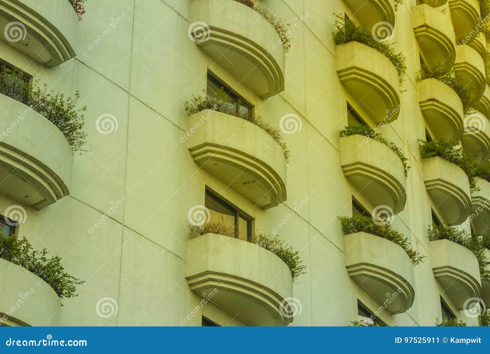 Modelo Hermoso Del Diseño De La Arquitectura De La Terraza