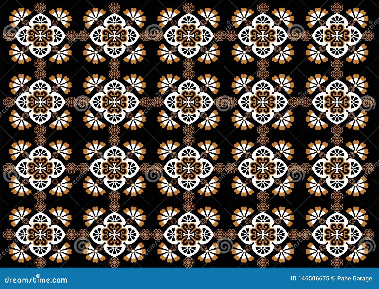 Modelo hermoso del ornamento de Indonesia del batik
