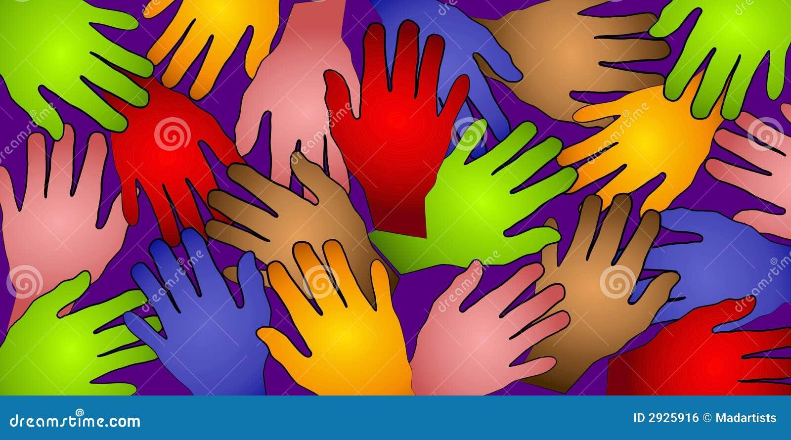Modelo humano 2 de los colores de las manos