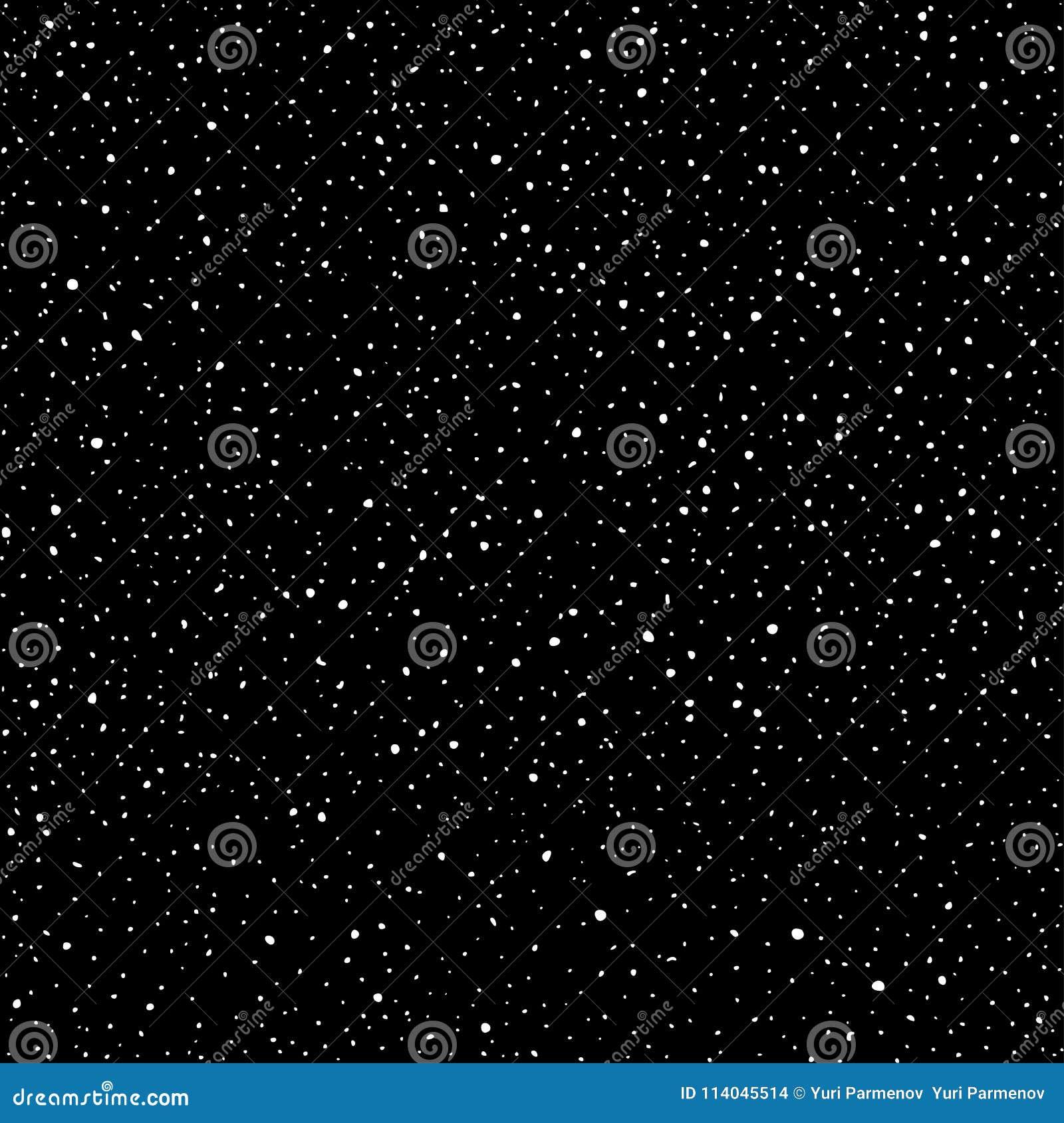 Modelo inconsútil abstracto del universo de puntos Estrellas en el espacio, vía láctea oscura del cielo Galaxia blanco y negro