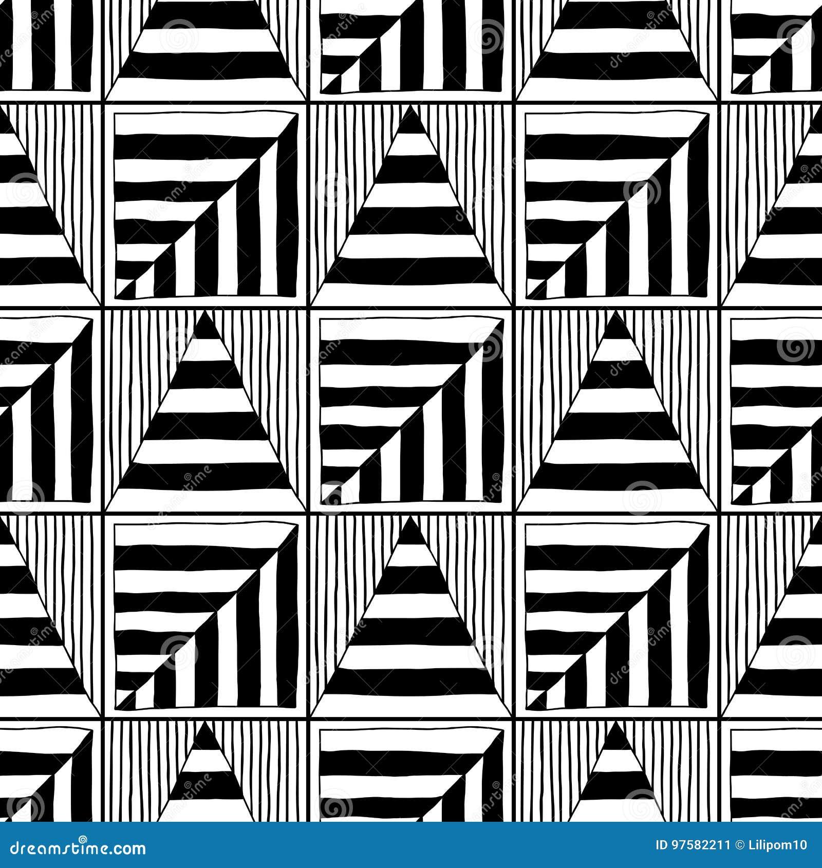 Modelo Inconsútil Abstracto Ejemplo Blanco Y Negro Para Los Libros ...