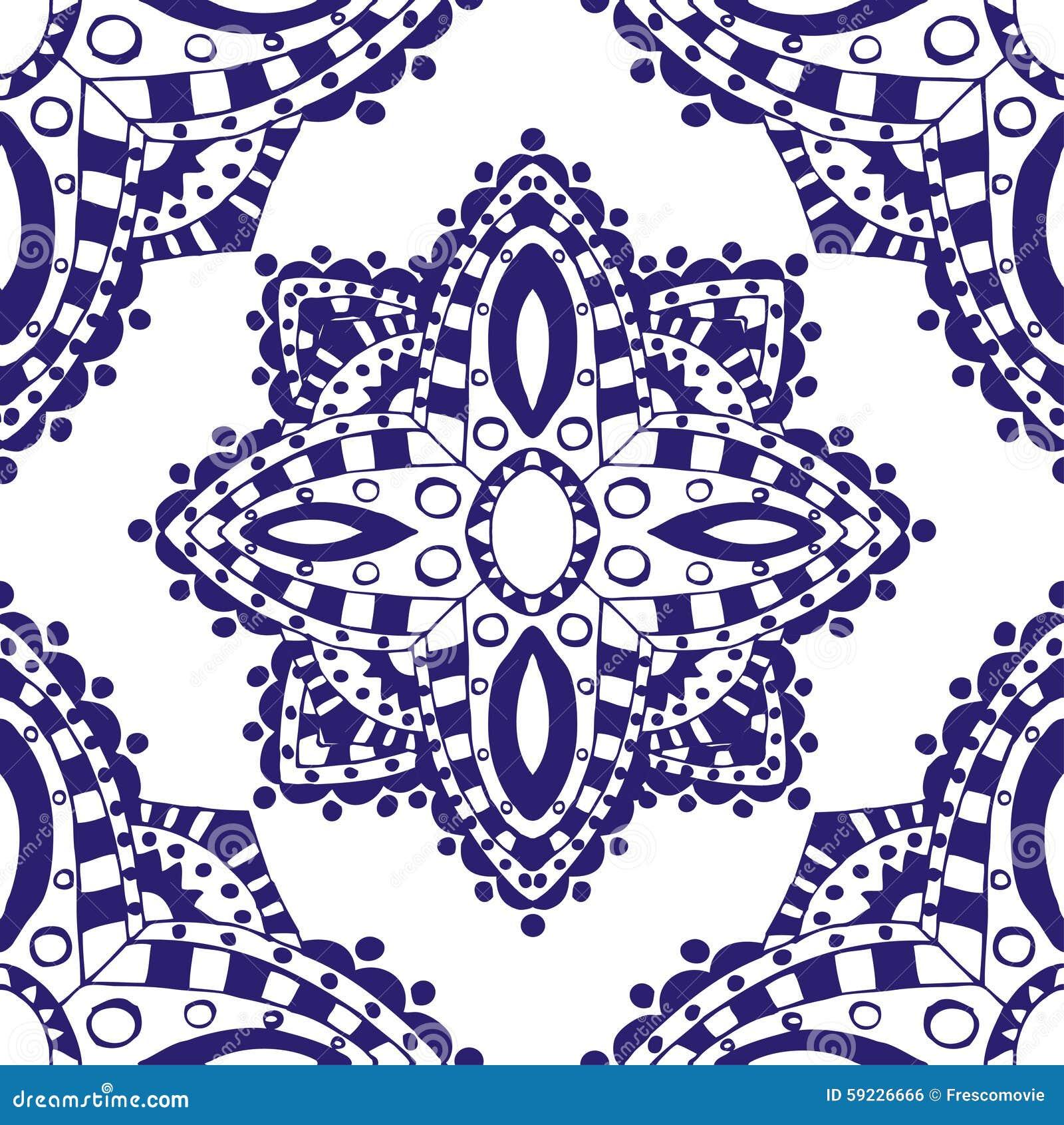 Download Modelo inconsútil azul ilustración del vector. Ilustración de contexto - 59226666