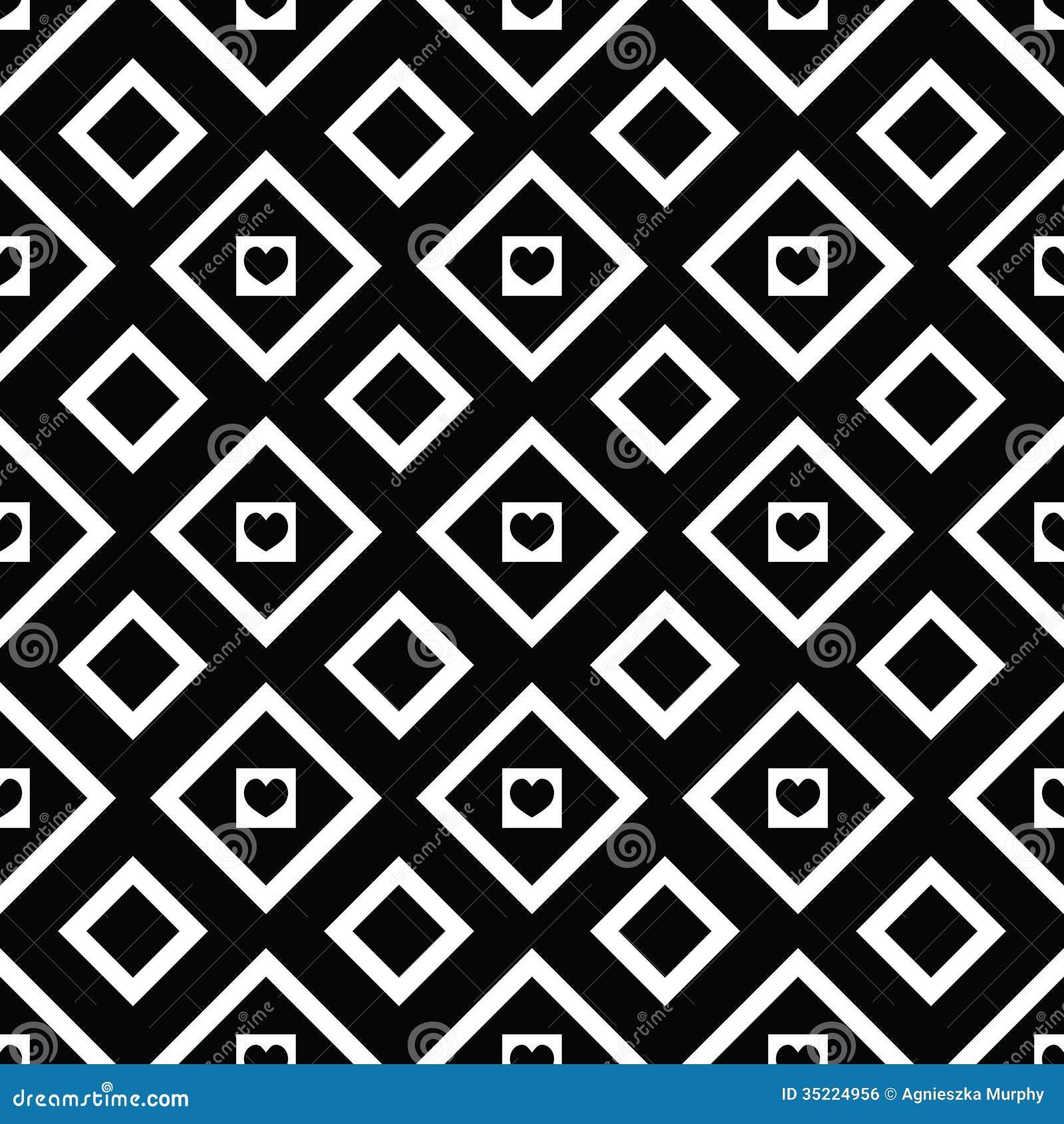 Modelo incons til blanco y negro abstracto con los - Papel de pared blanco y negro ...
