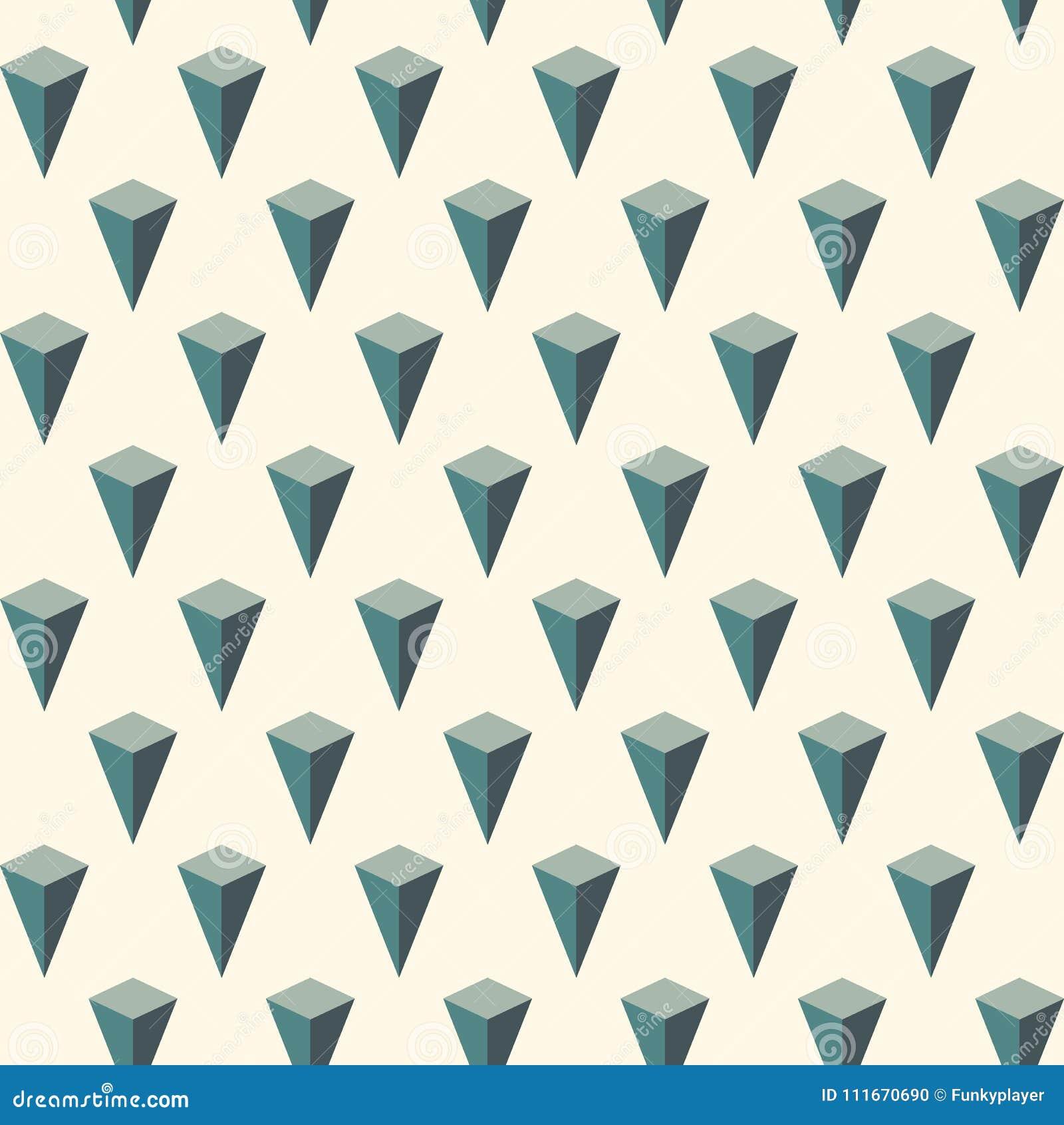 732dba500ea Modelo inconsútil con el ornamento geométrico Papel pintado isométrico de  las islas Adorno invertido de las pirámides 3d repetido figura el fondo  abstracto ...