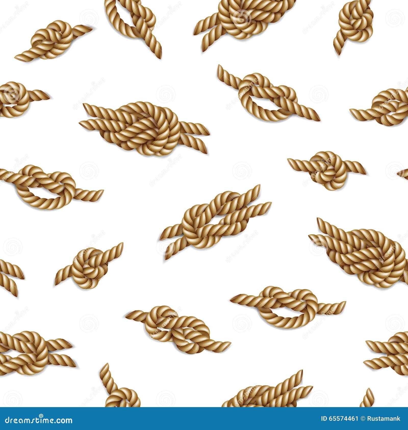 Modelo incons til con las cuerdas amarillas y los nudos marinos sobre el fondo blanco - Noeud de sifflet de bosco ...