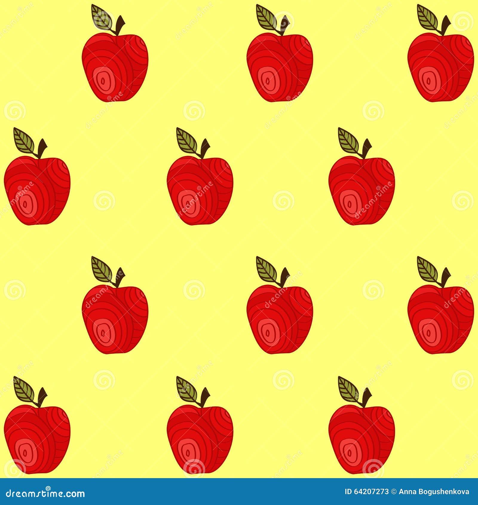 Modelo inconsútil con las manzanas