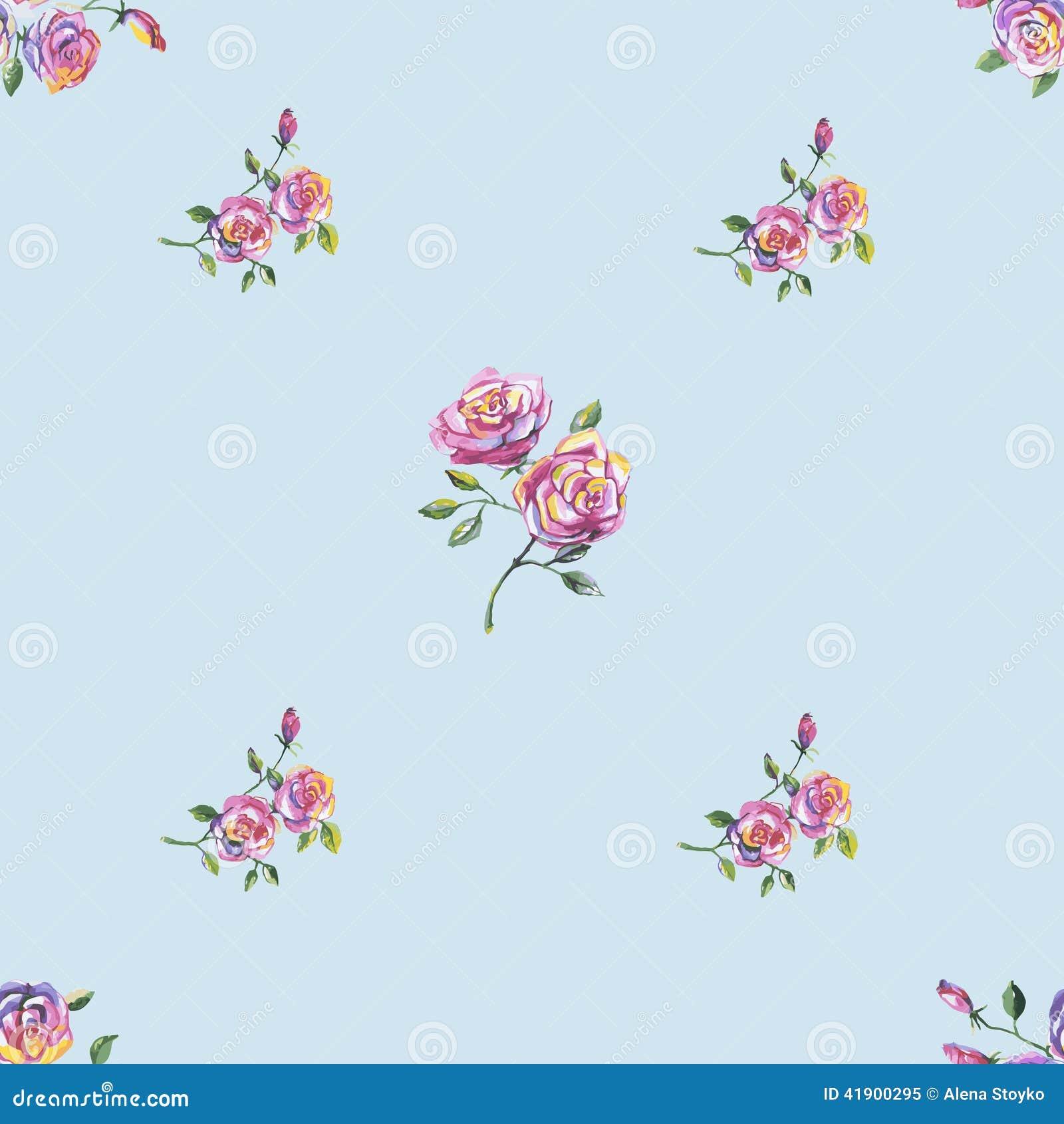 Modelo inconsútil con las rosas hermosas