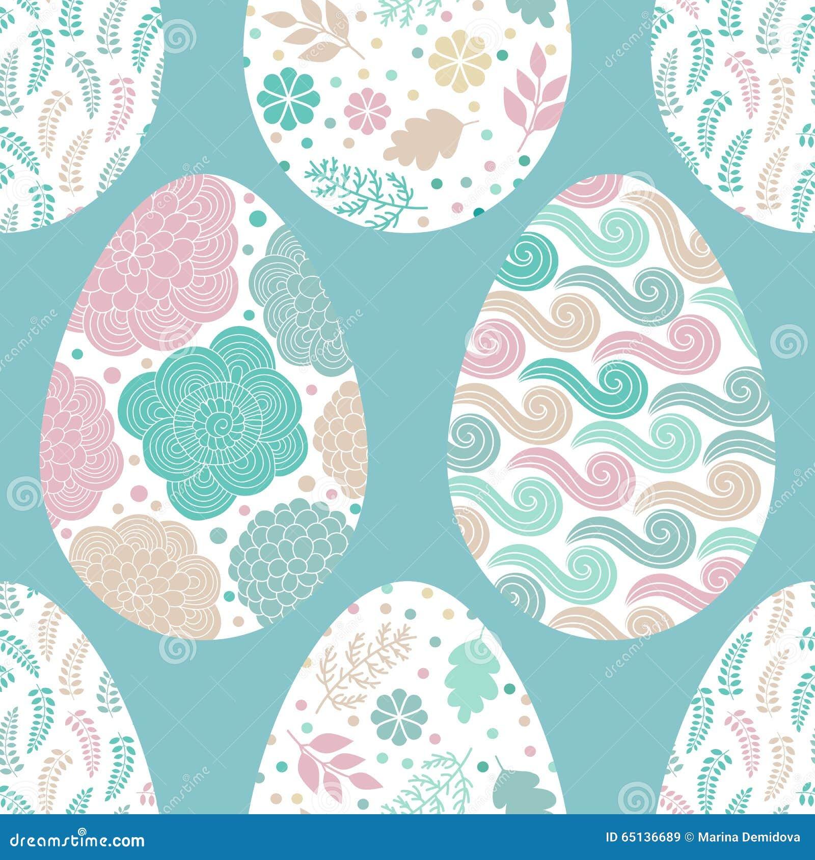 Modelo inconsútil con los huevos de Pascua, vector