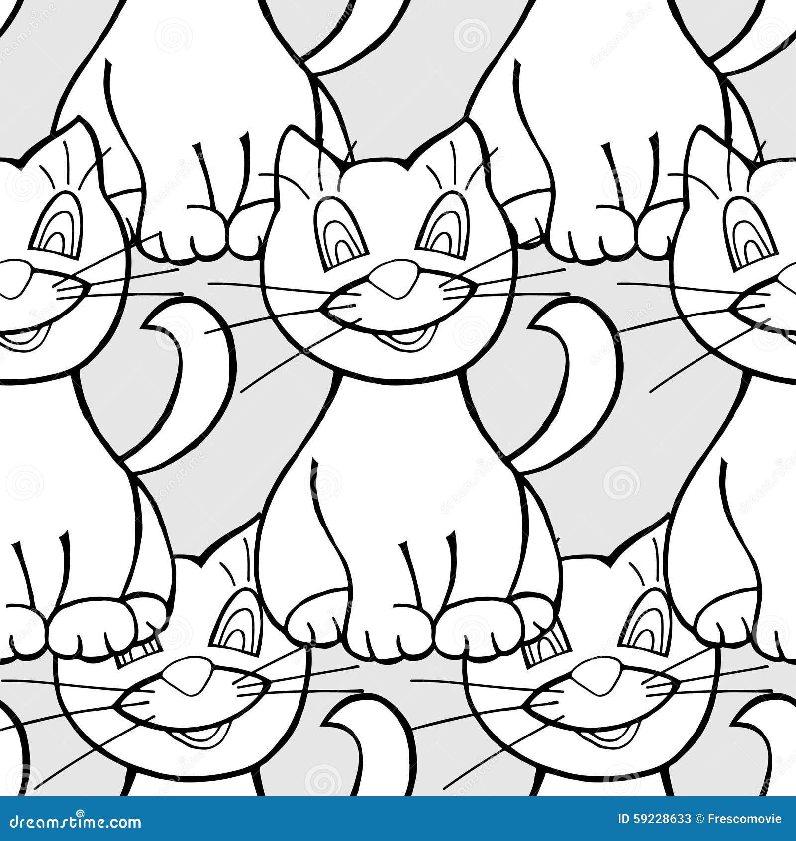 Download Modelo inconsútil de gatos ilustración del vector. Ilustración de animal - 59228633