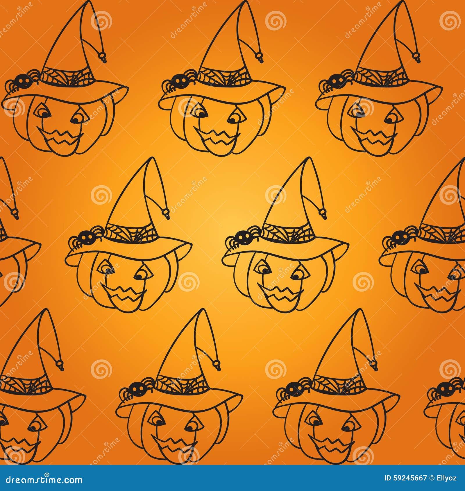 Modelo inconsútil de la calabaza de Halloween