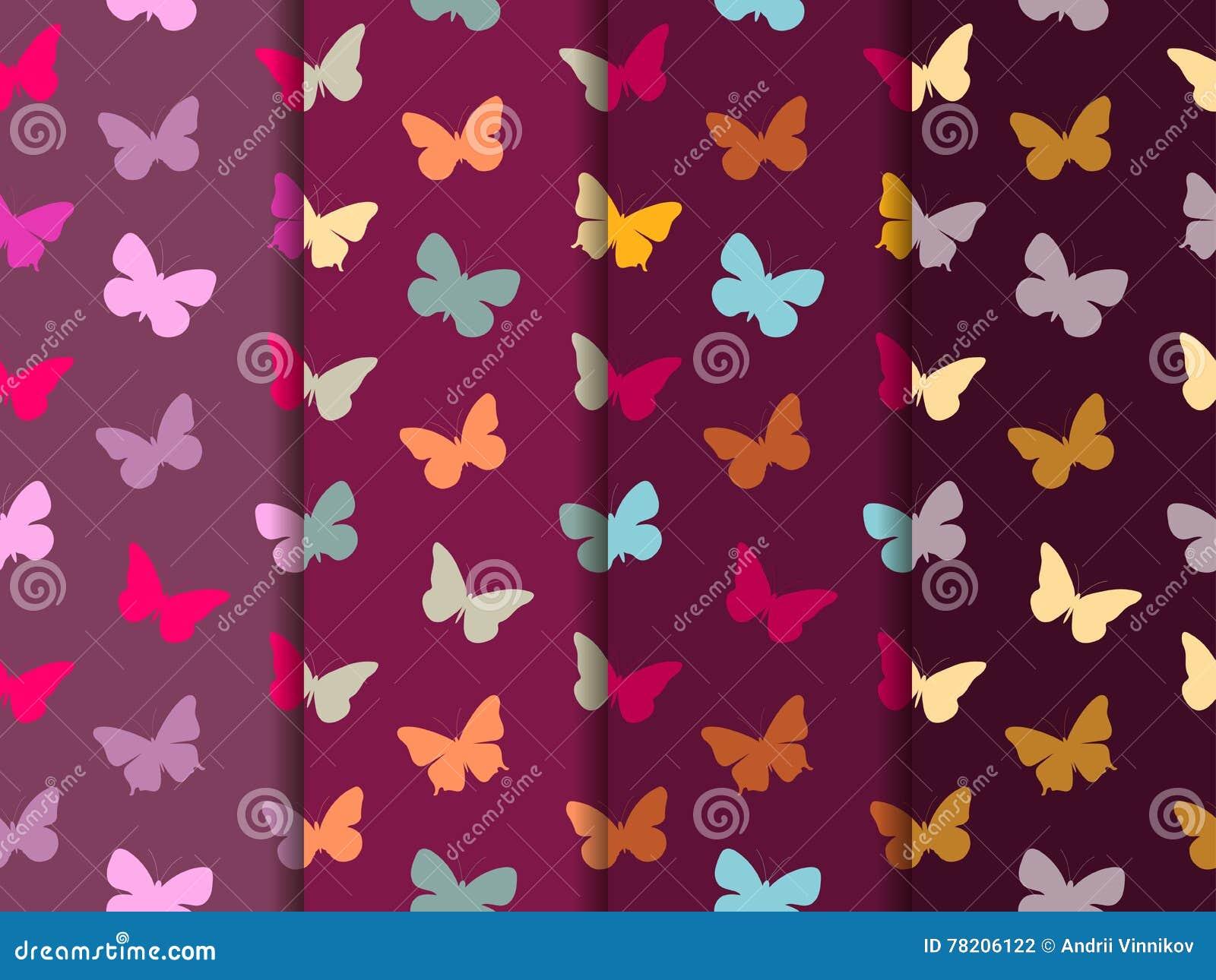 Modelo inconsútil de la mariposa Conjunto de modelos inconsútiles Mariposas multicoloras