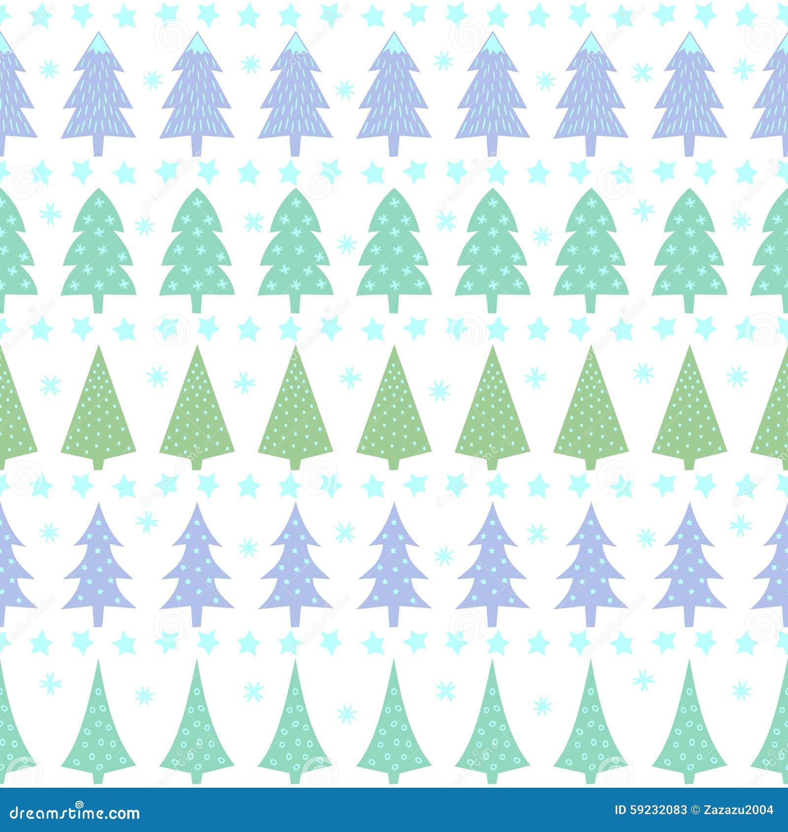 Download Modelo Inconsútil De La Navidad - árboles Variados, Estrellas Y Copos De Nieve De Navidad Ilustración del Vector - Ilustración de navidad, ilustración: 59232083