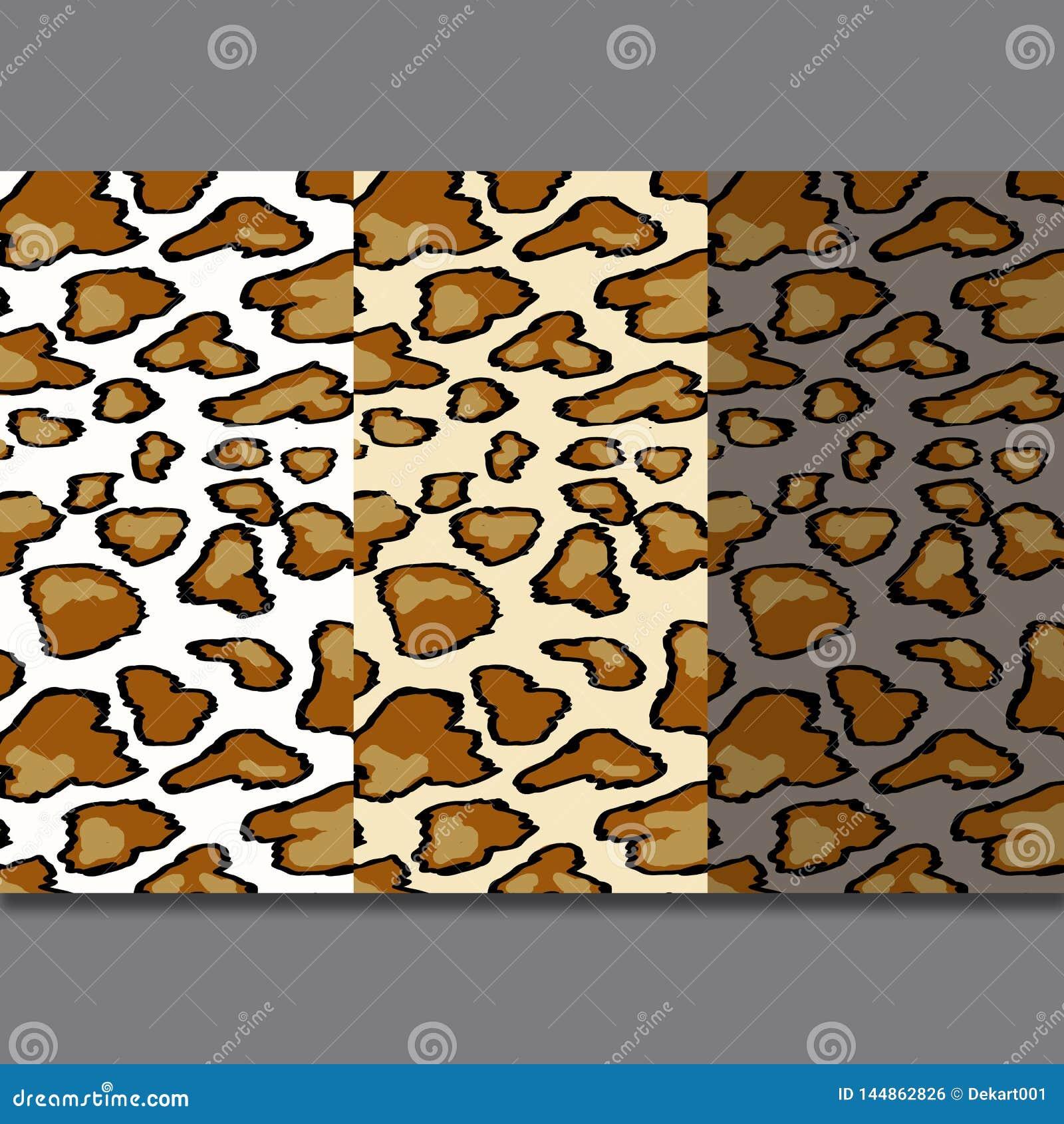 Modelo incons?til de la piel del leopardo en fondo gris Estampado de animales