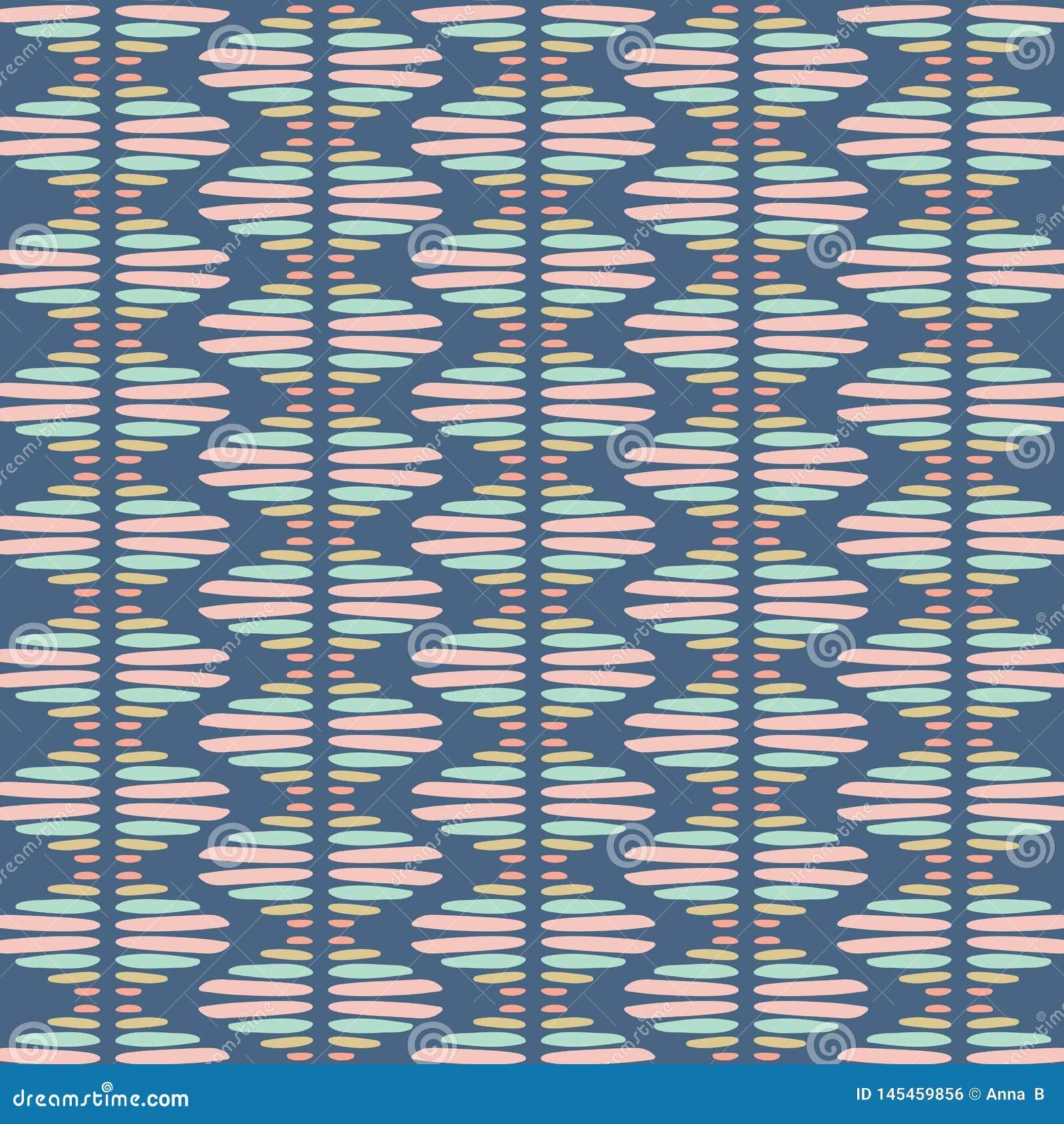 Modelo inconsútil de la repetición del vector del extracto Textura tribal elegante moderna de repetir las tejas geométricas de