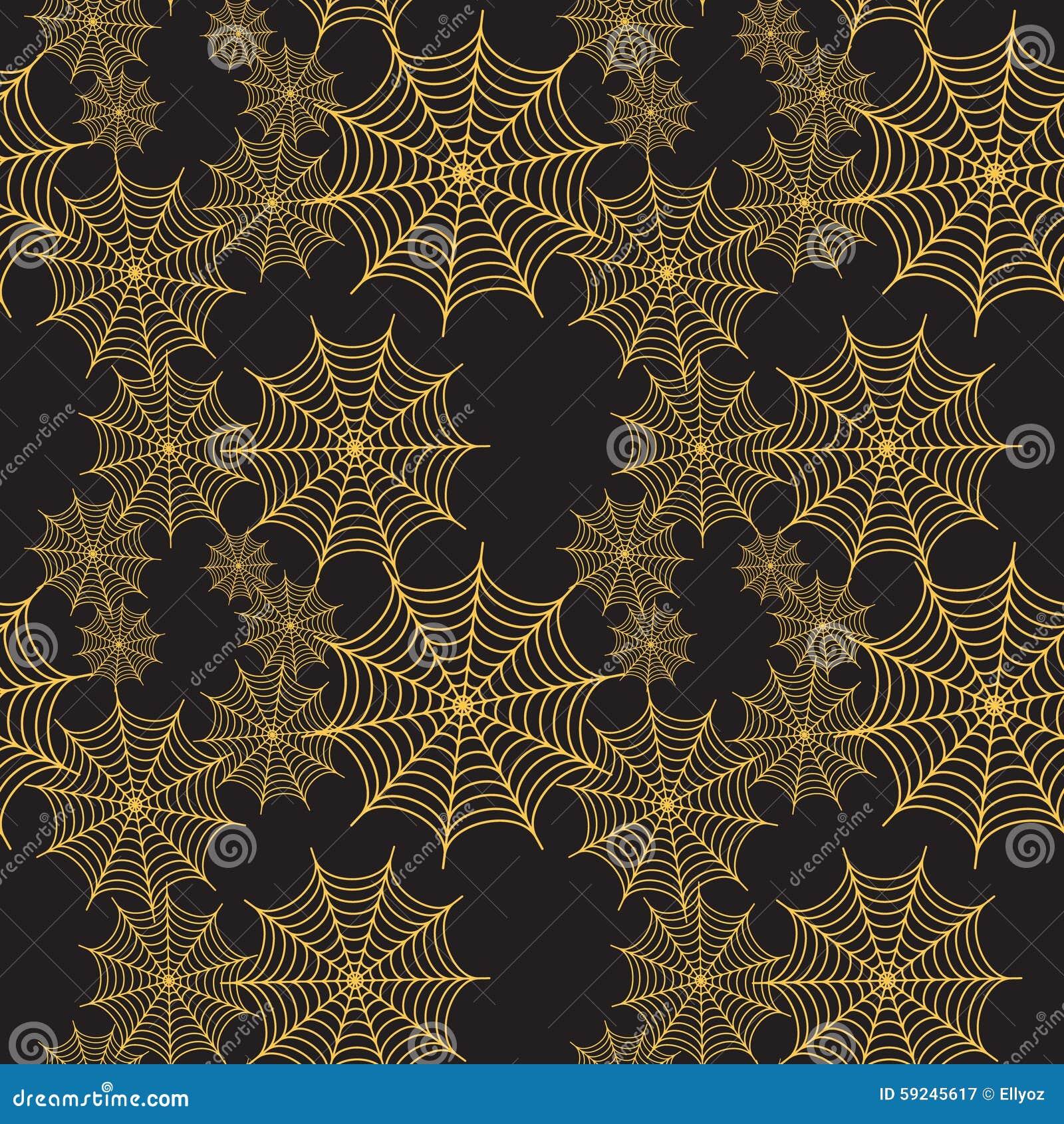 Download Modelo Inconsútil De La Telaraña Ilustración del Vector - Ilustración de elemento, espeluznante: 59245617