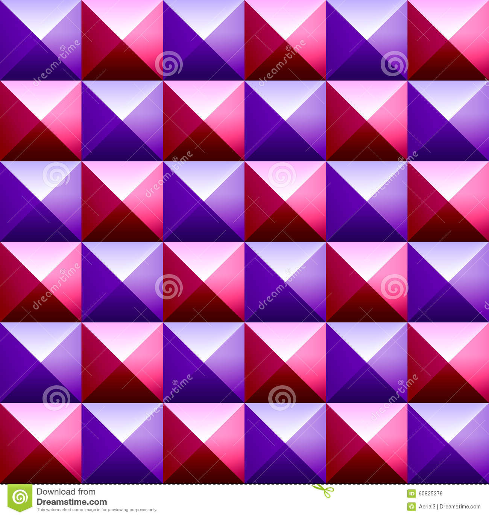 Modelo inconsútil de las pirámides coloridas