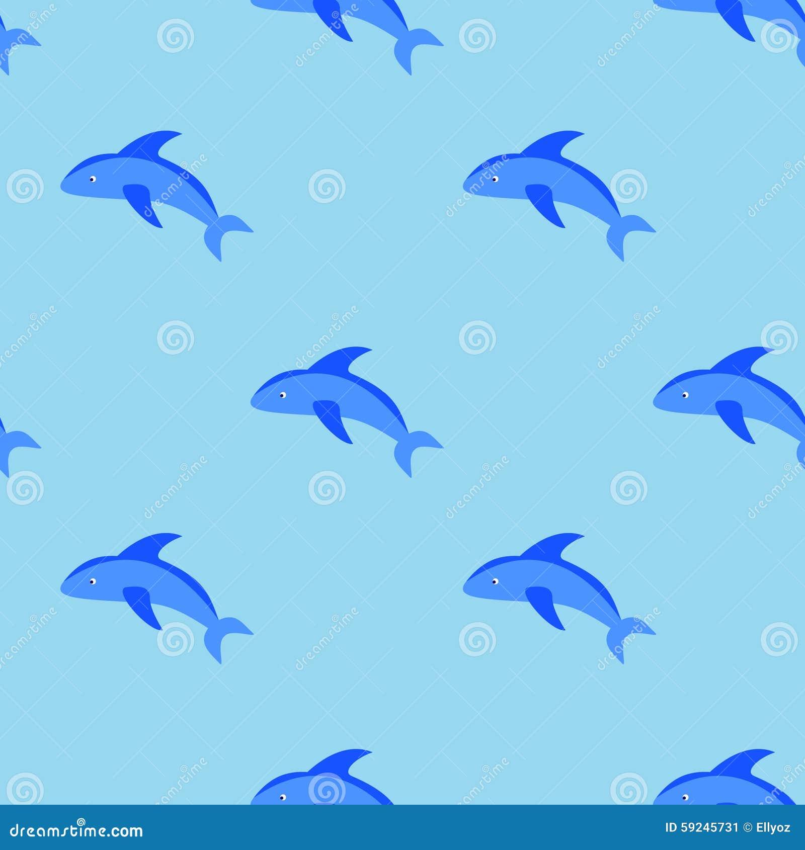 Download Modelo Inconsútil De Los Delfínes Ilustración del Vector - Ilustración de extracto, color: 59245731
