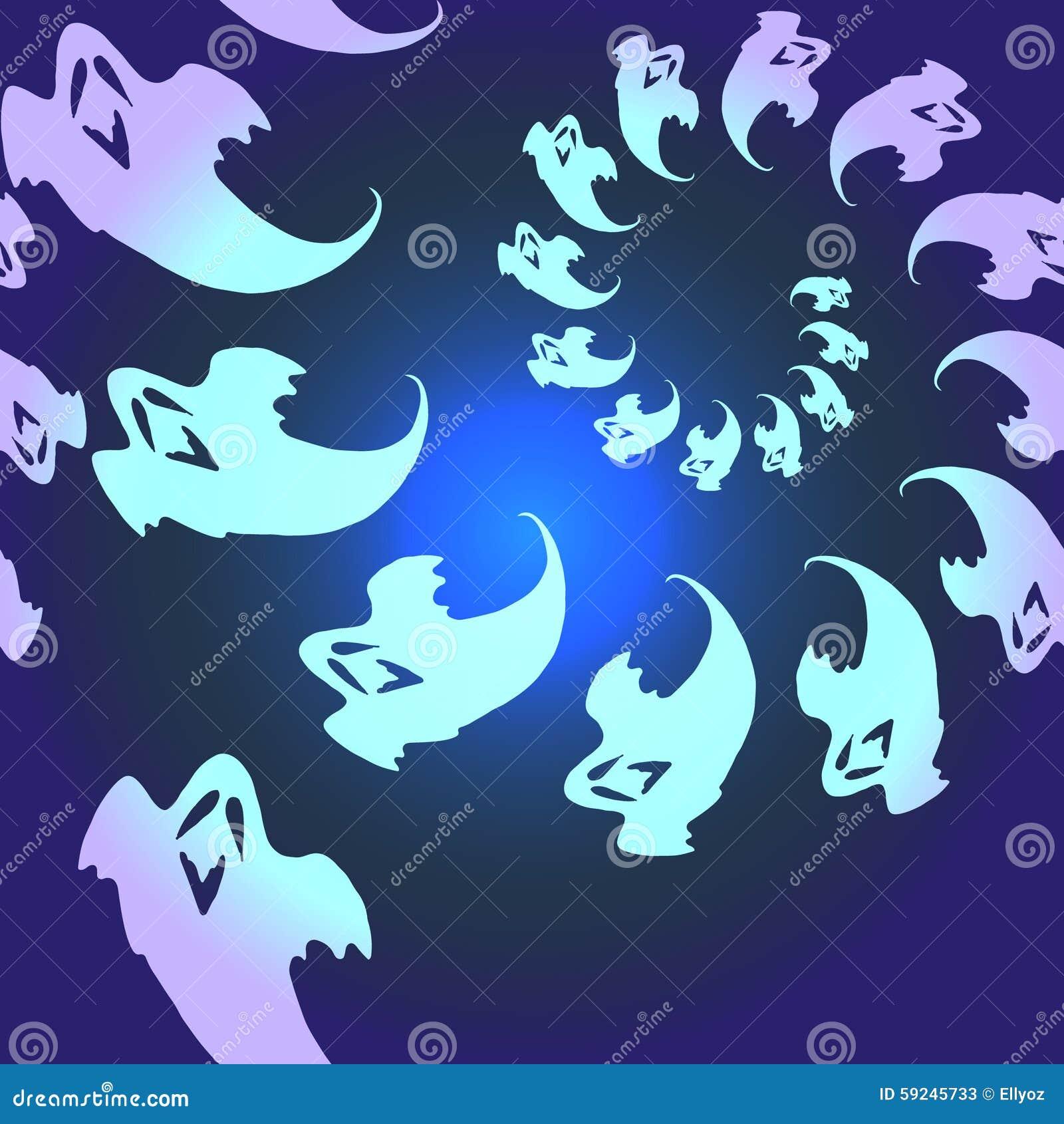 Download Modelo Inconsútil De Los Fantasmas Ilustración del Vector - Ilustración de fantasma, inconsútil: 59245733