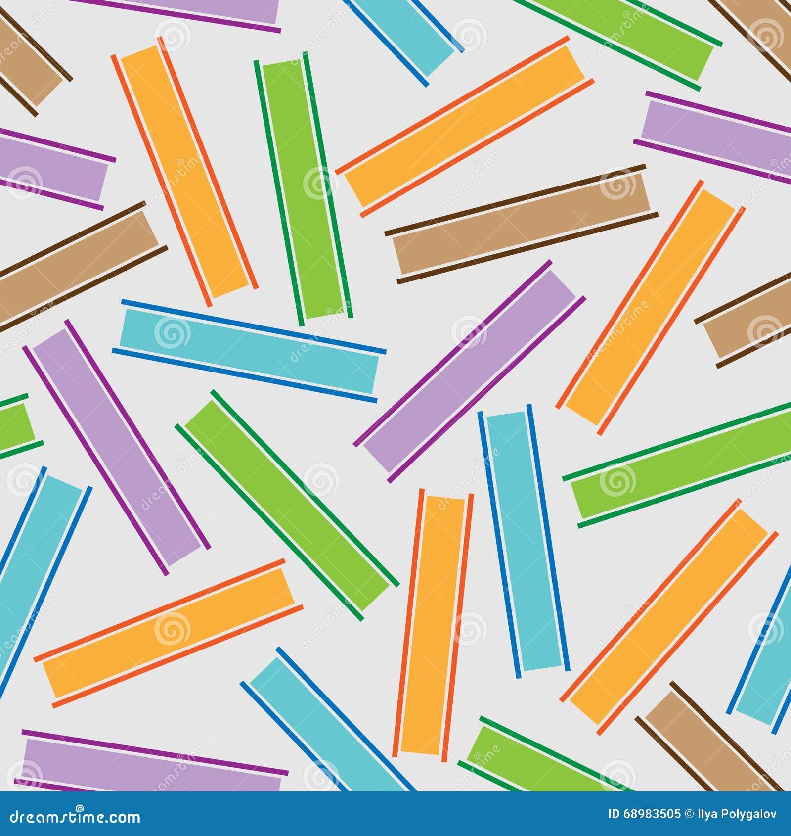 Modelo inconsútil de los libros coloreados de las rayas