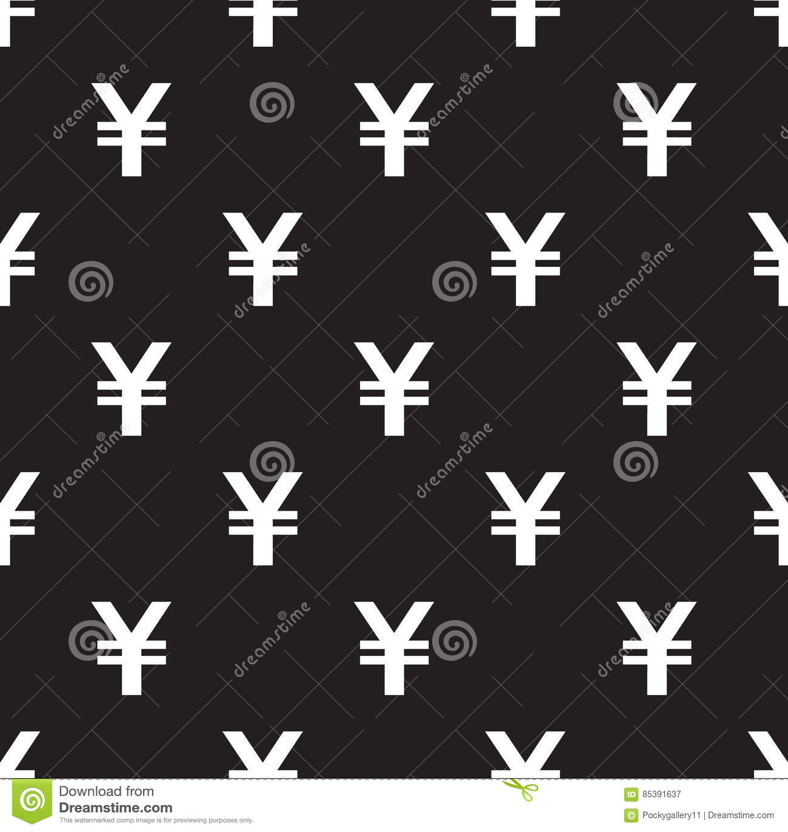 Modelo inconsútil de Yen Currency en negro