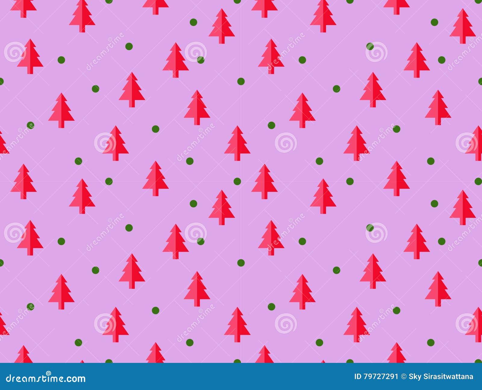 Modelo inconsútil del árbol de navidad para la tarjeta de felicitación del Año Nuevo/el fondo del papel pintado Ilustración del v