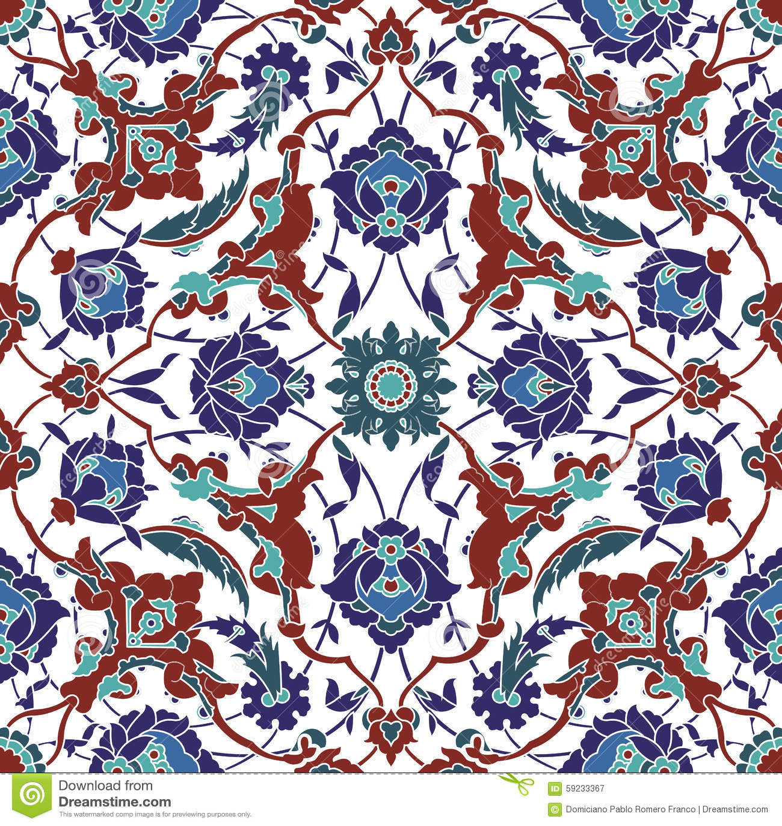 Download Modelo Inconsútil Del Arabesque Ilustración del Vector - Ilustración de fondo, renacimiento: 59233367