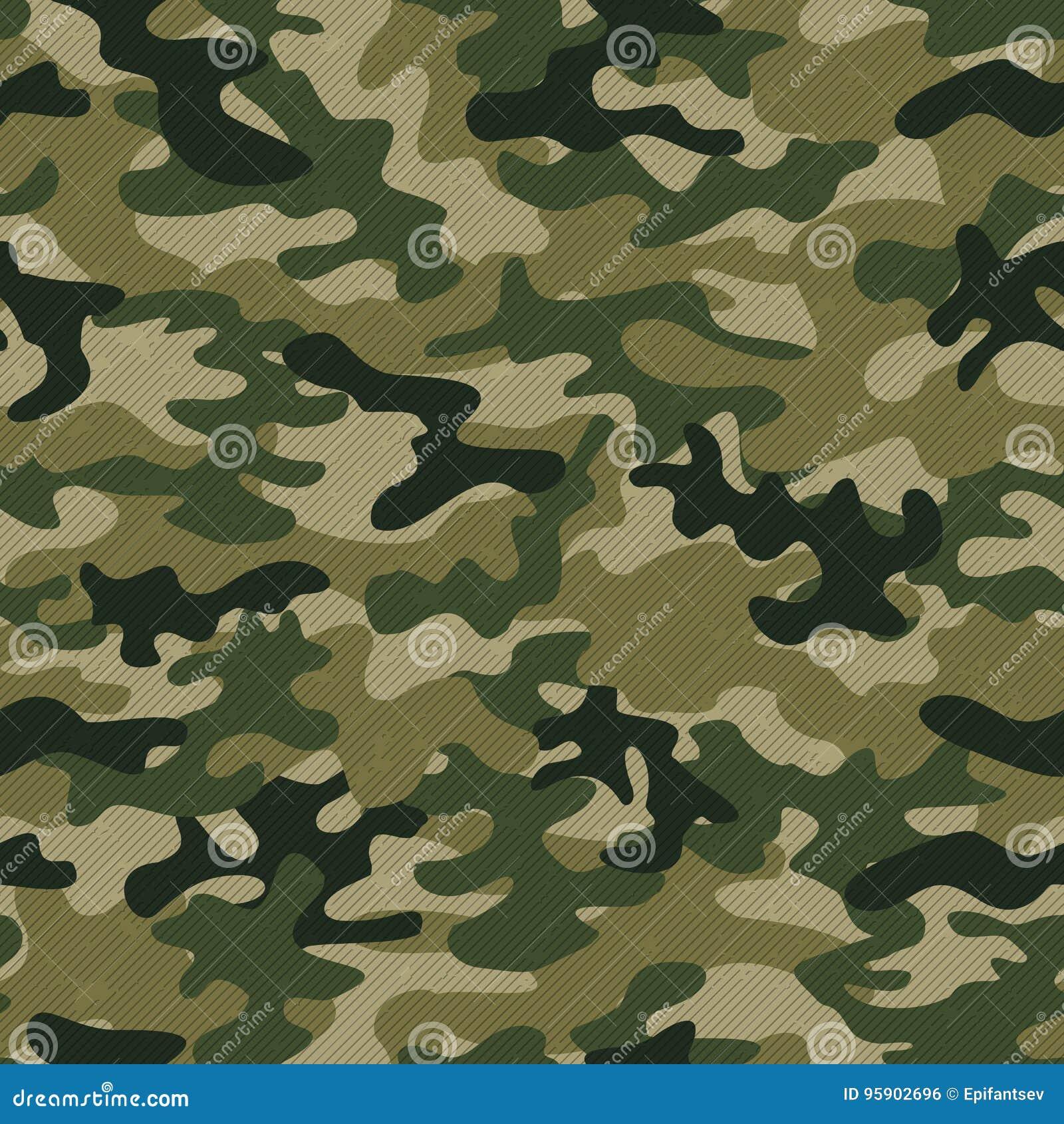 Modelo inconsútil del camo militar Fondo del vector para su diseño