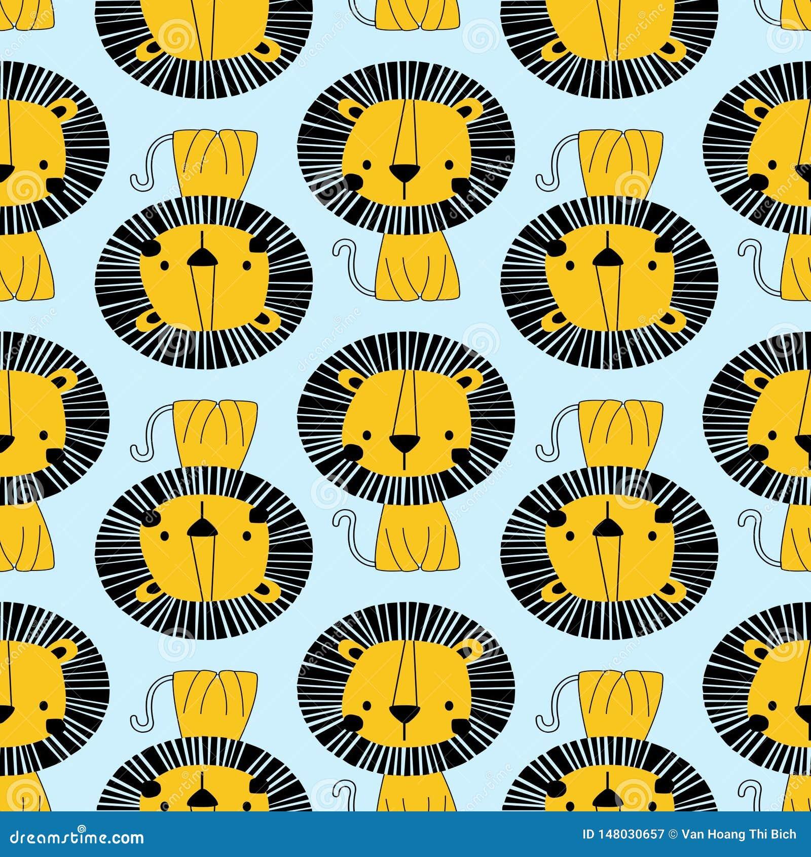 Modelo inconsútil del león amarillo