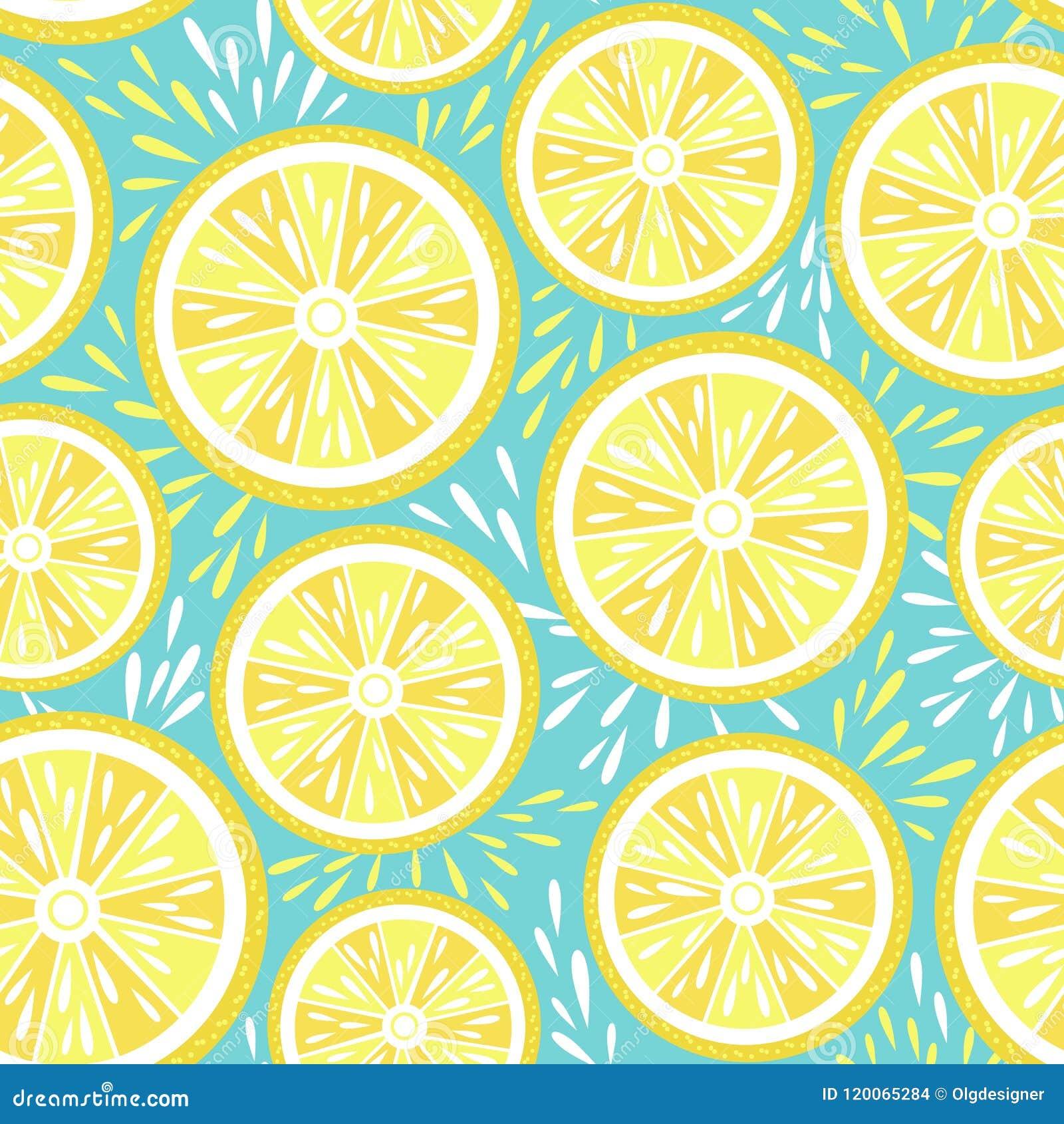 Modelo inconsútil del limón fresco Ilustración del vector