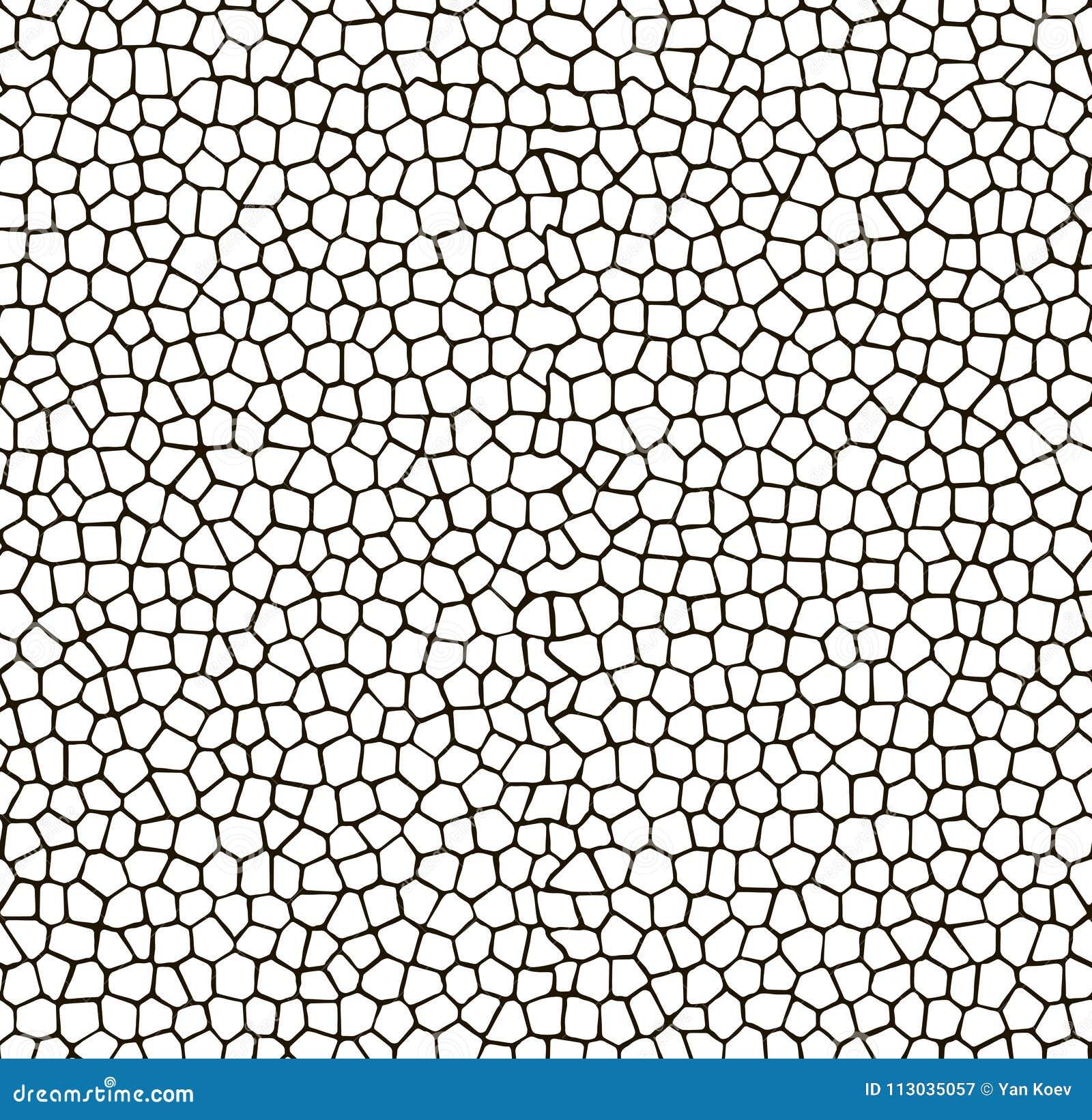 Modelo inconsútil del mosaico Textura del blanco y del negro