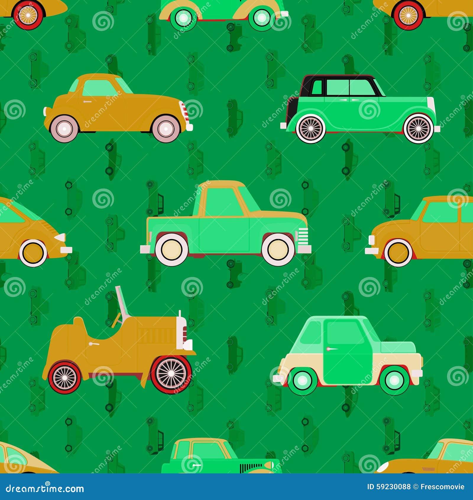 Download Modelo Inconsútil Del Vector Con Los Coches Ilustración del Vector - Ilustración de limusina, automóvil: 59230088