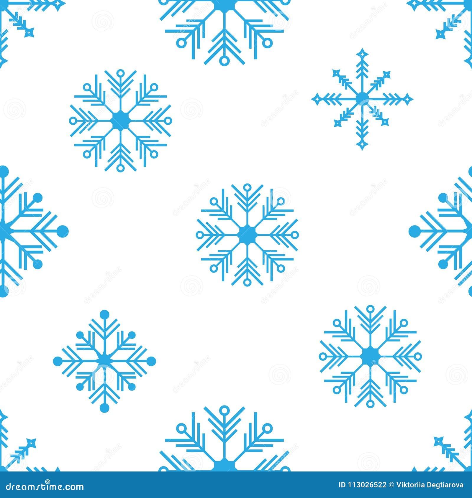 Modelo inconsútil del vector con los copos de nieve detallados