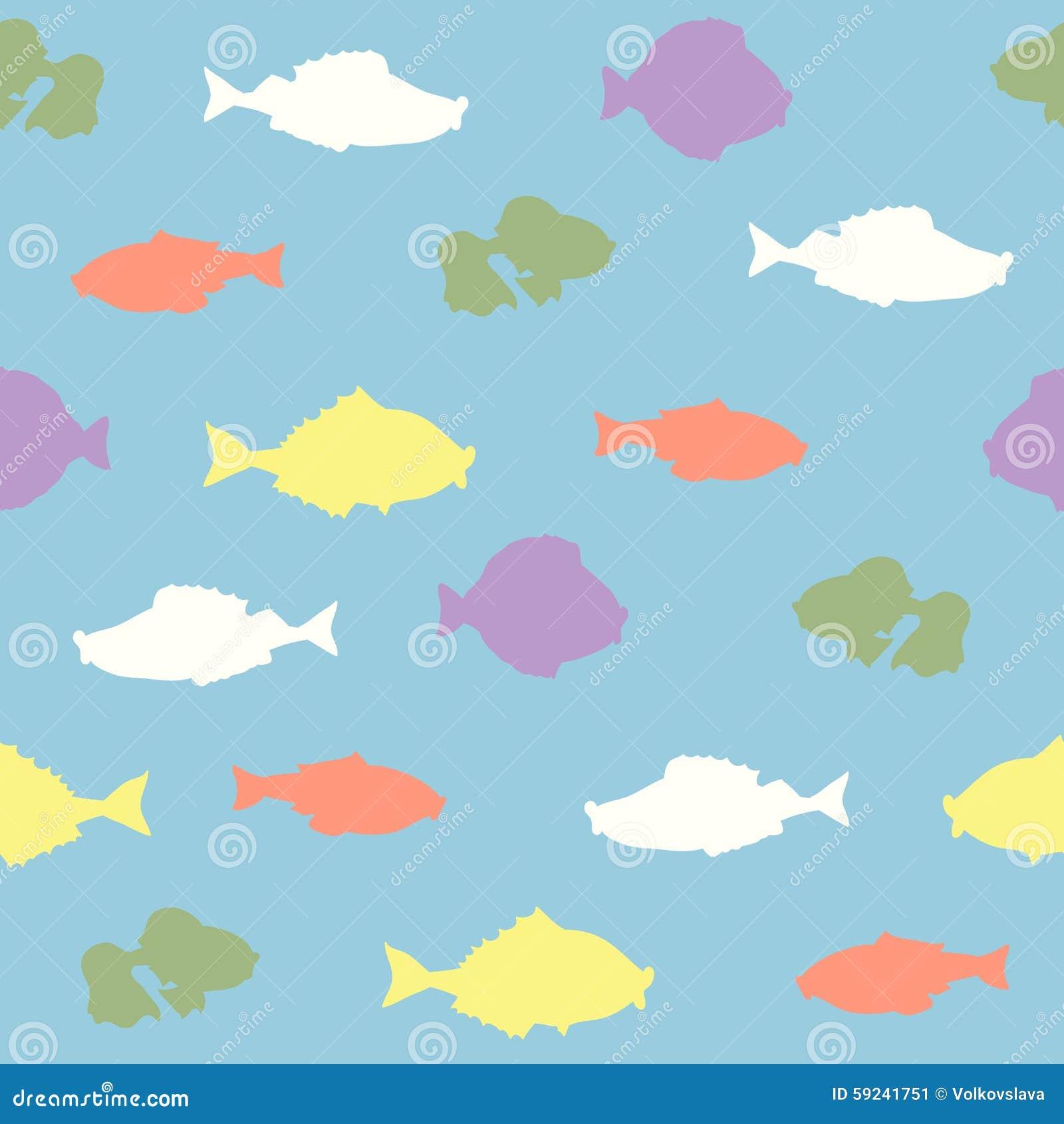 Download Modelo Inconsútil Del Vector Con Los Pescados Ilustración del Vector - Ilustración de arte, moderno: 59241751