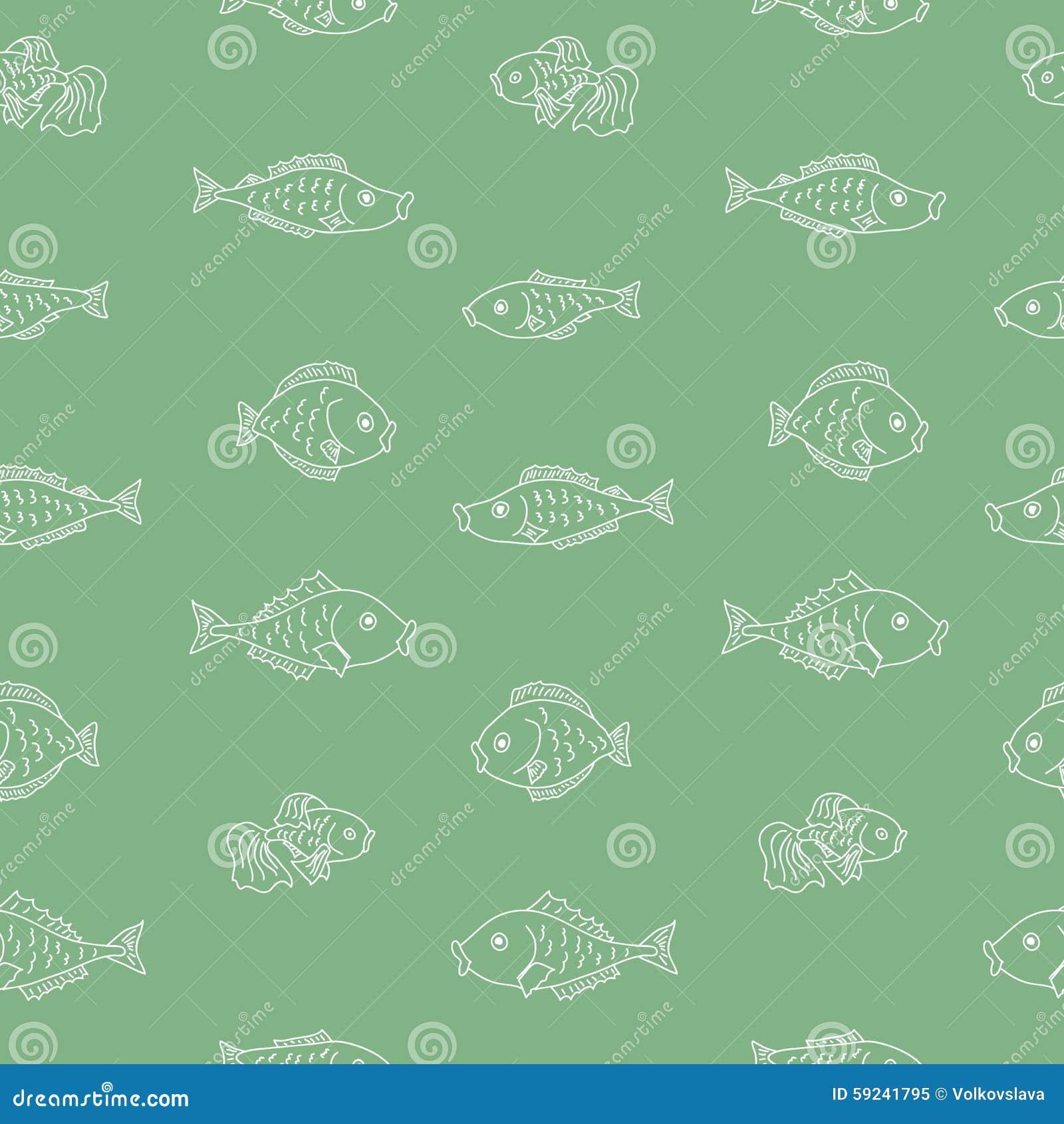 Download Modelo Inconsútil Del Vector Con Los Pescados Ilustración del Vector - Ilustración de doodle, acuario: 59241795