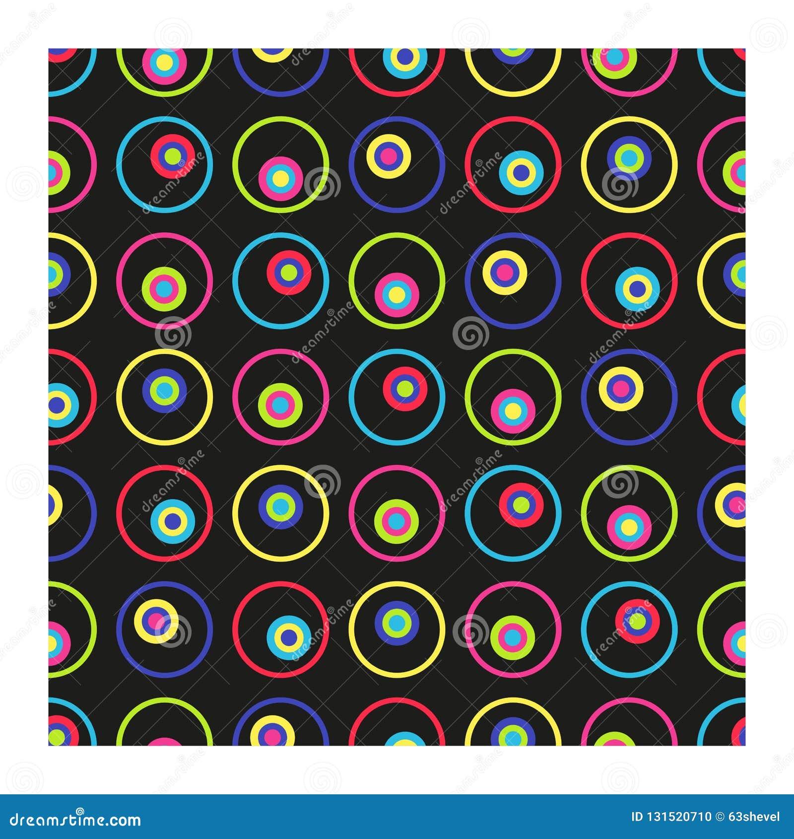 Modelo inconsútil del vector de círculos multicolores