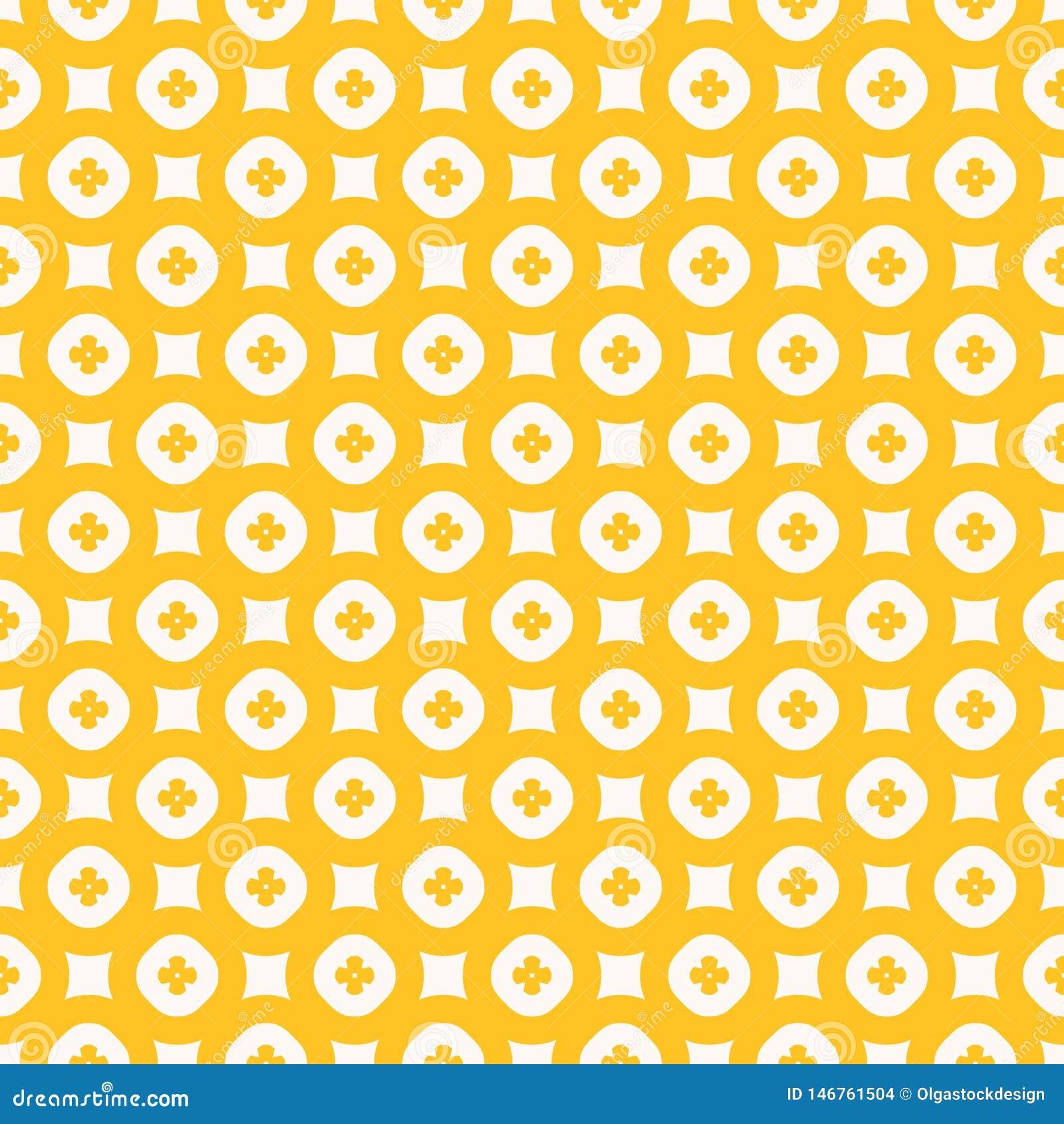 Modelo incons?til del vector floral amarillo Textura geom?trica abstracta simple