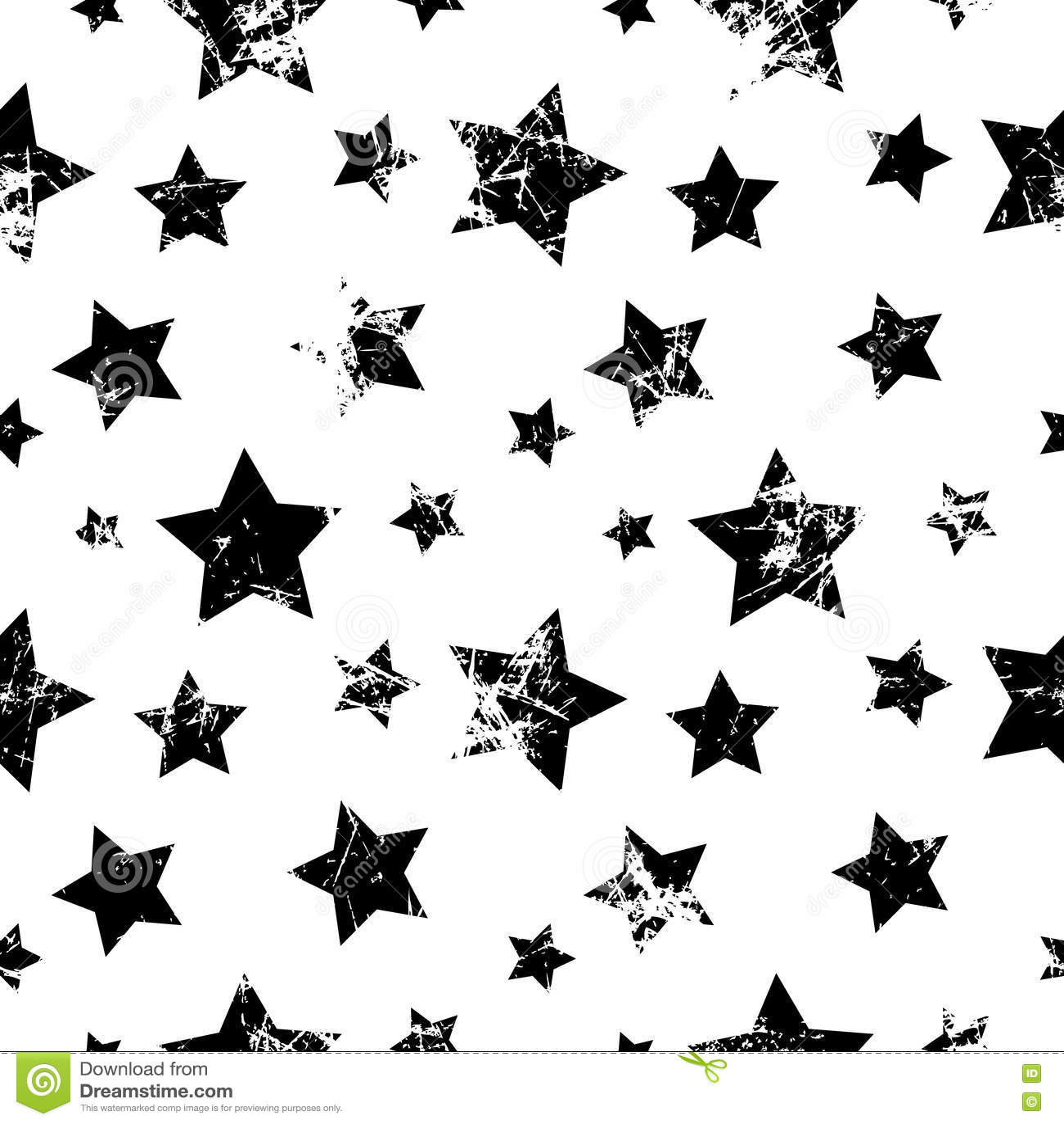 Modelo inconsútil del vector Fondo blanco y negro geométrico creativo con las estrellas