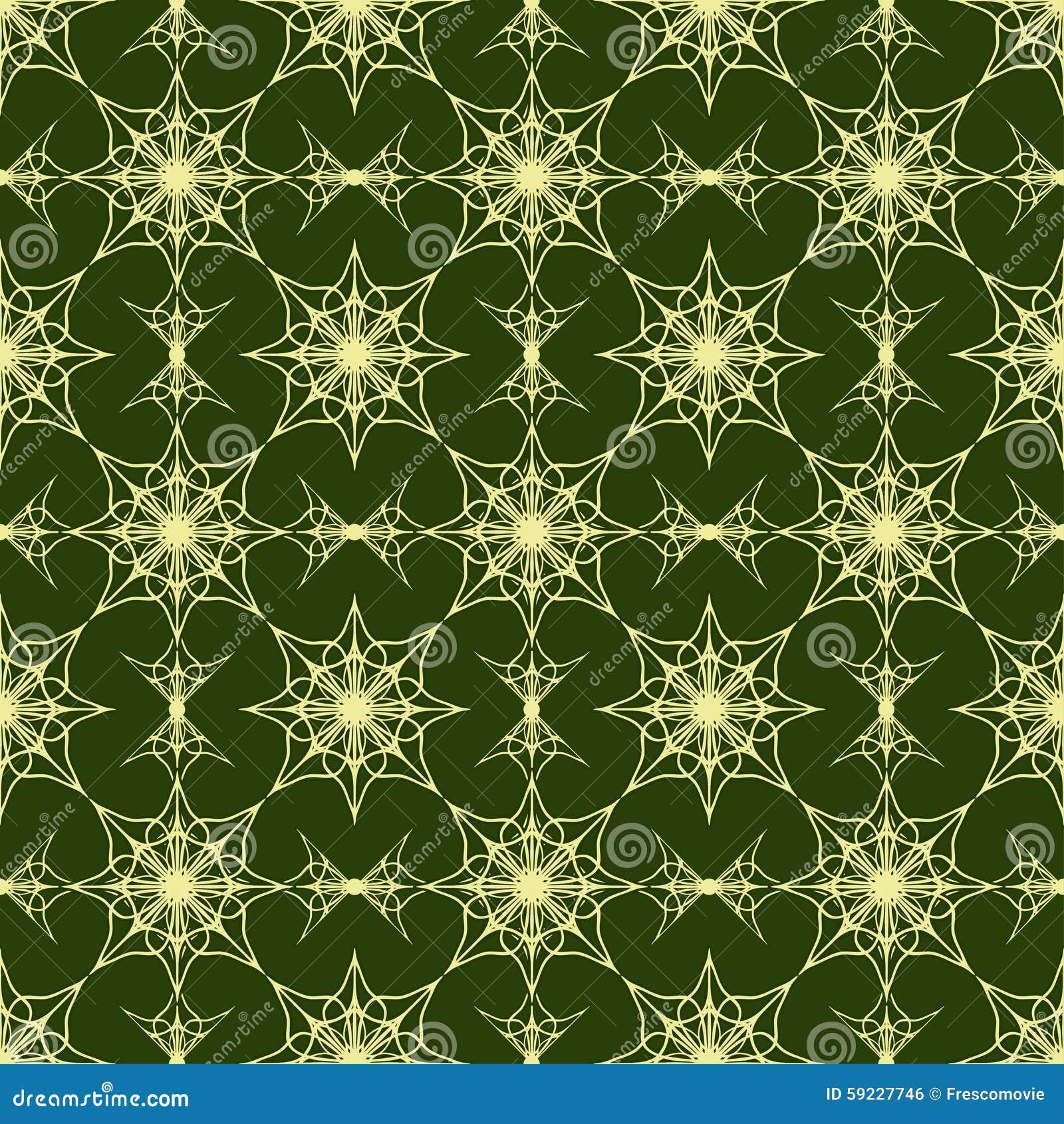 Download Modelo Inconsútil En Fondo Verde Ilustración del Vector - Ilustración de desfile, geométrico: 59227746