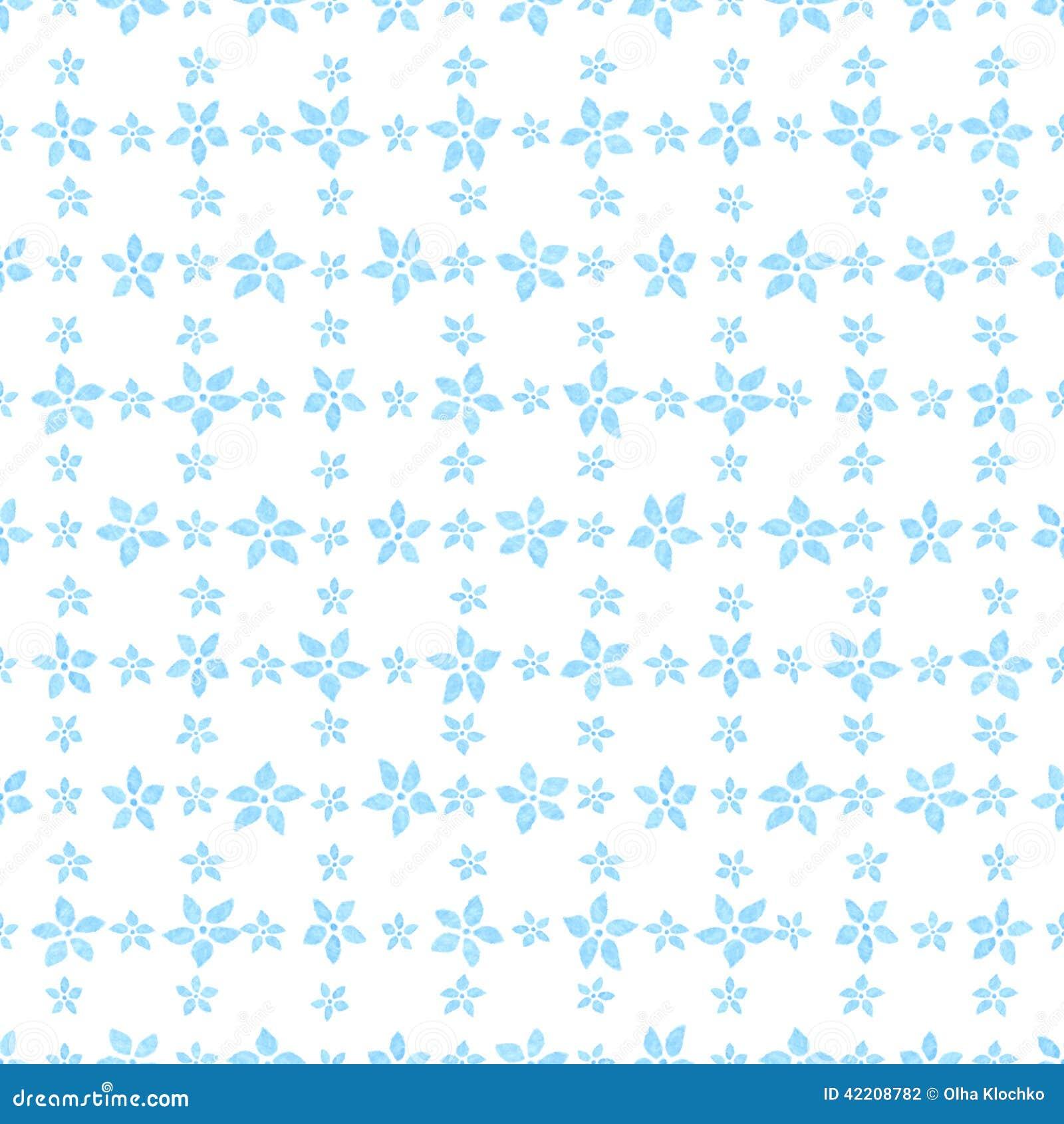 Modelo incons til floral de la acuarela ilustraci n del for Papel decorativo azul