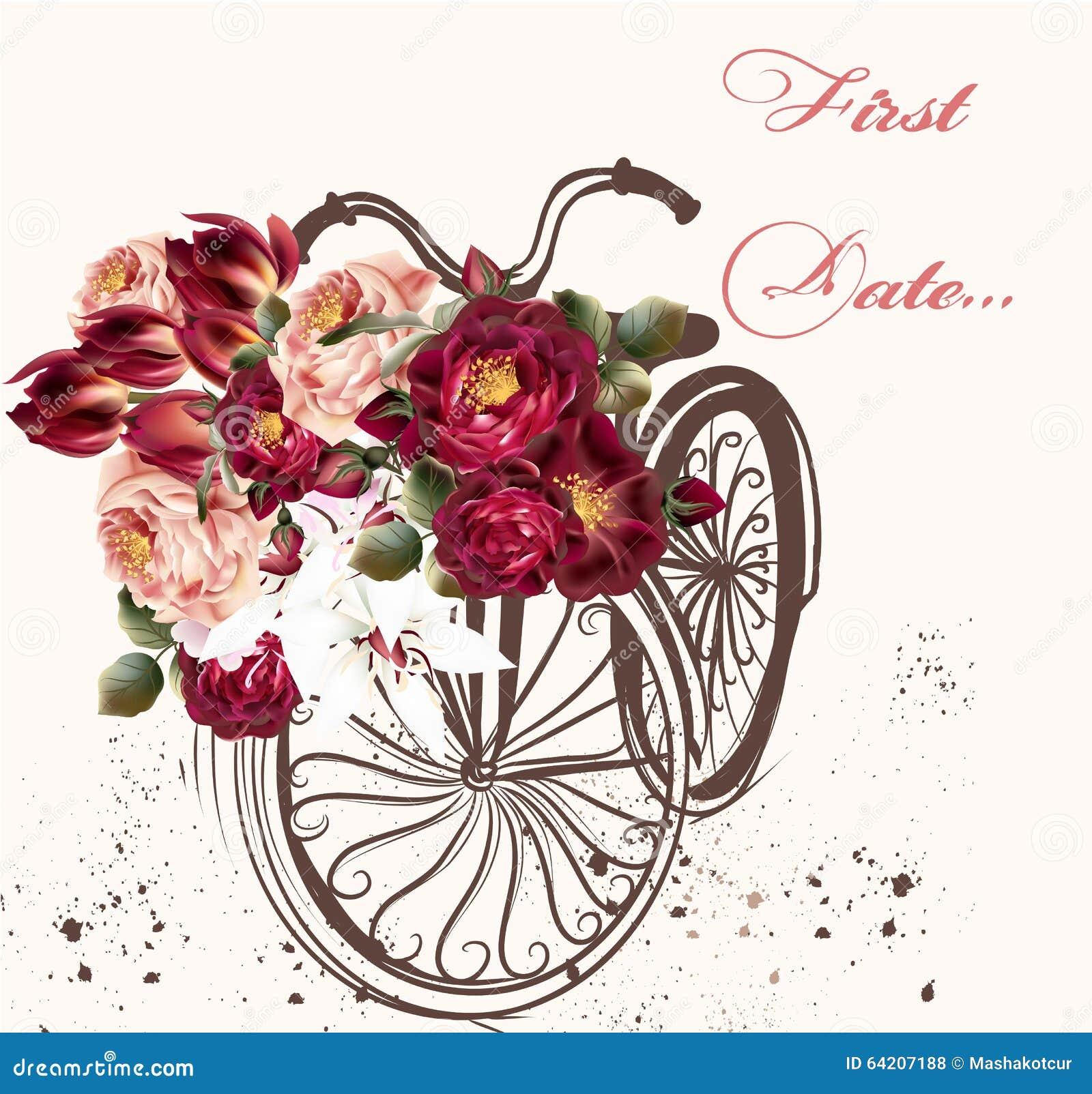Modelo inconsútil floral del vector con las flores en estilo de la acuarela