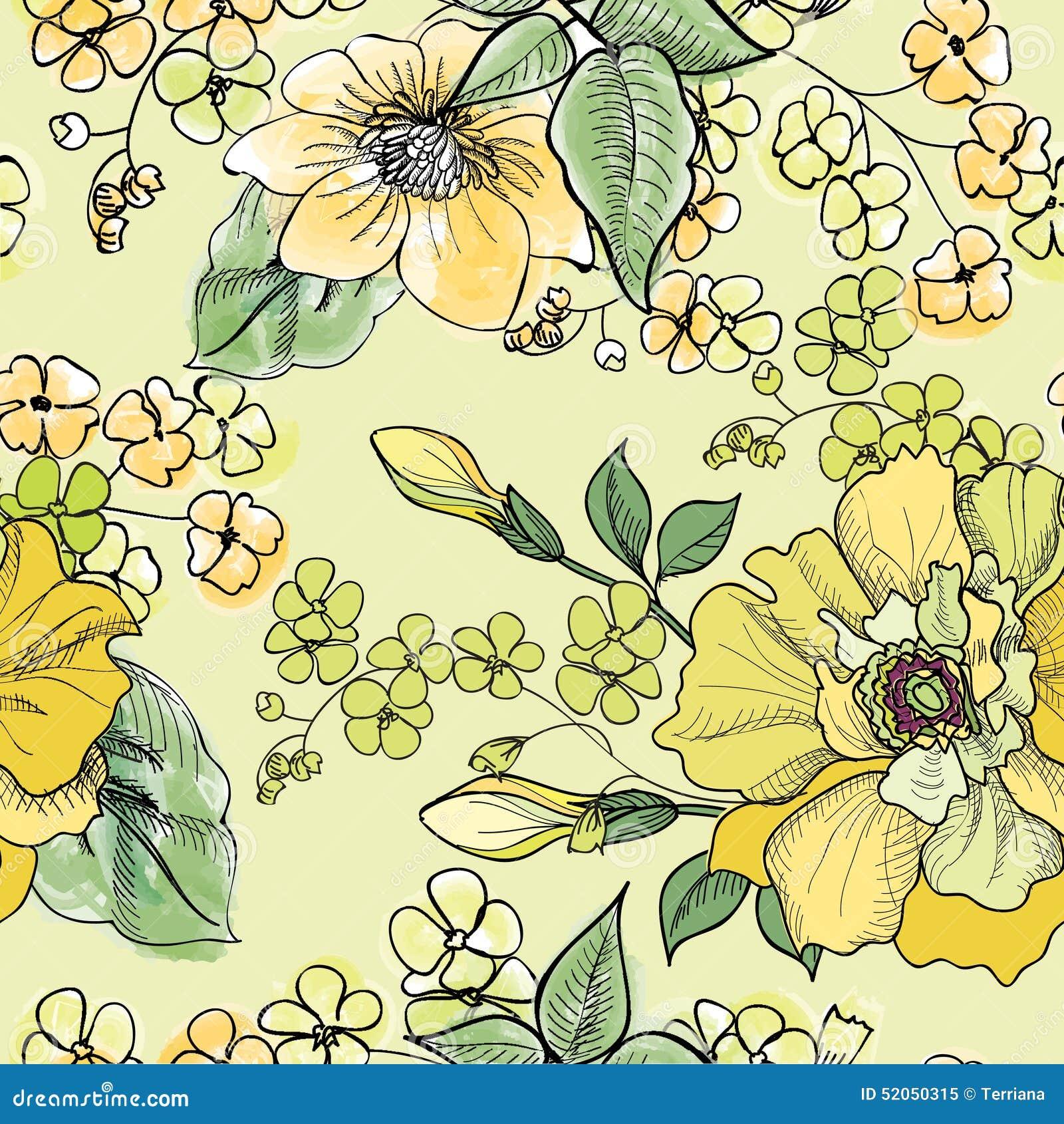 Modelo inconsútil floral Fondo de la flor