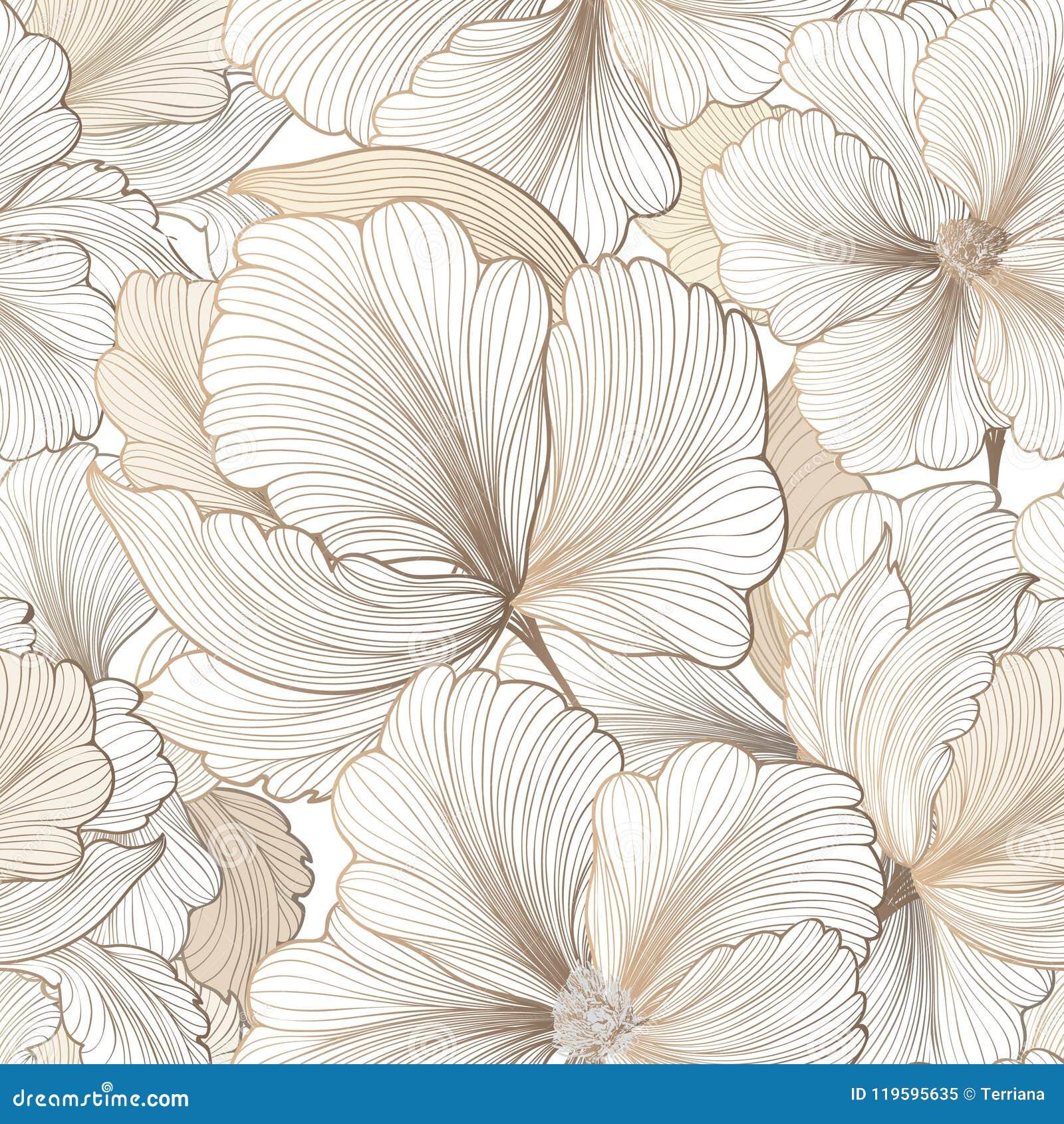 Modelo inconsútil floral Fondo de la flor Texto del jardín del Flourish