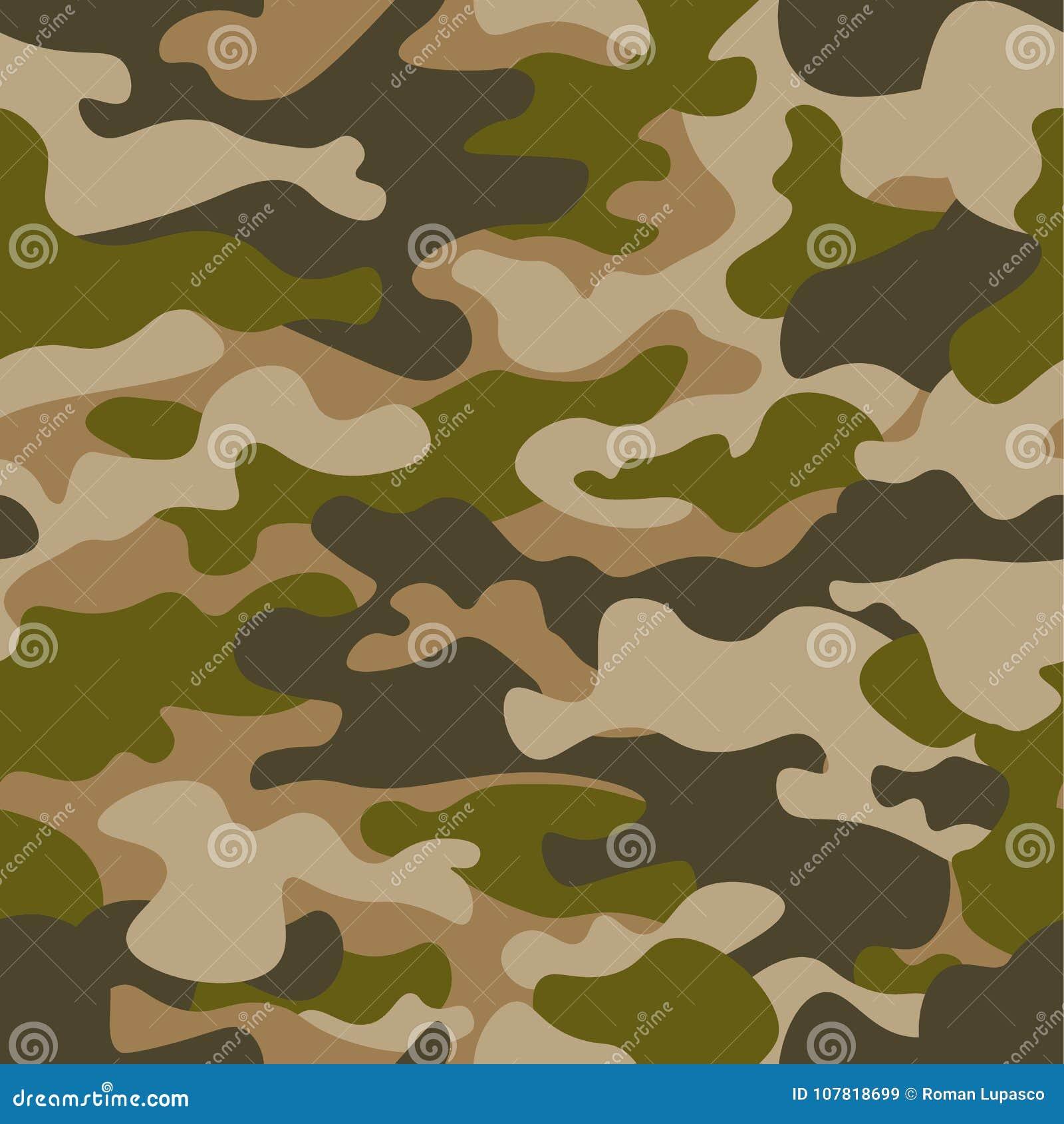 Modelo Inconsútil Fondo Abstracto Del Camuflaje De Los Militares O ...