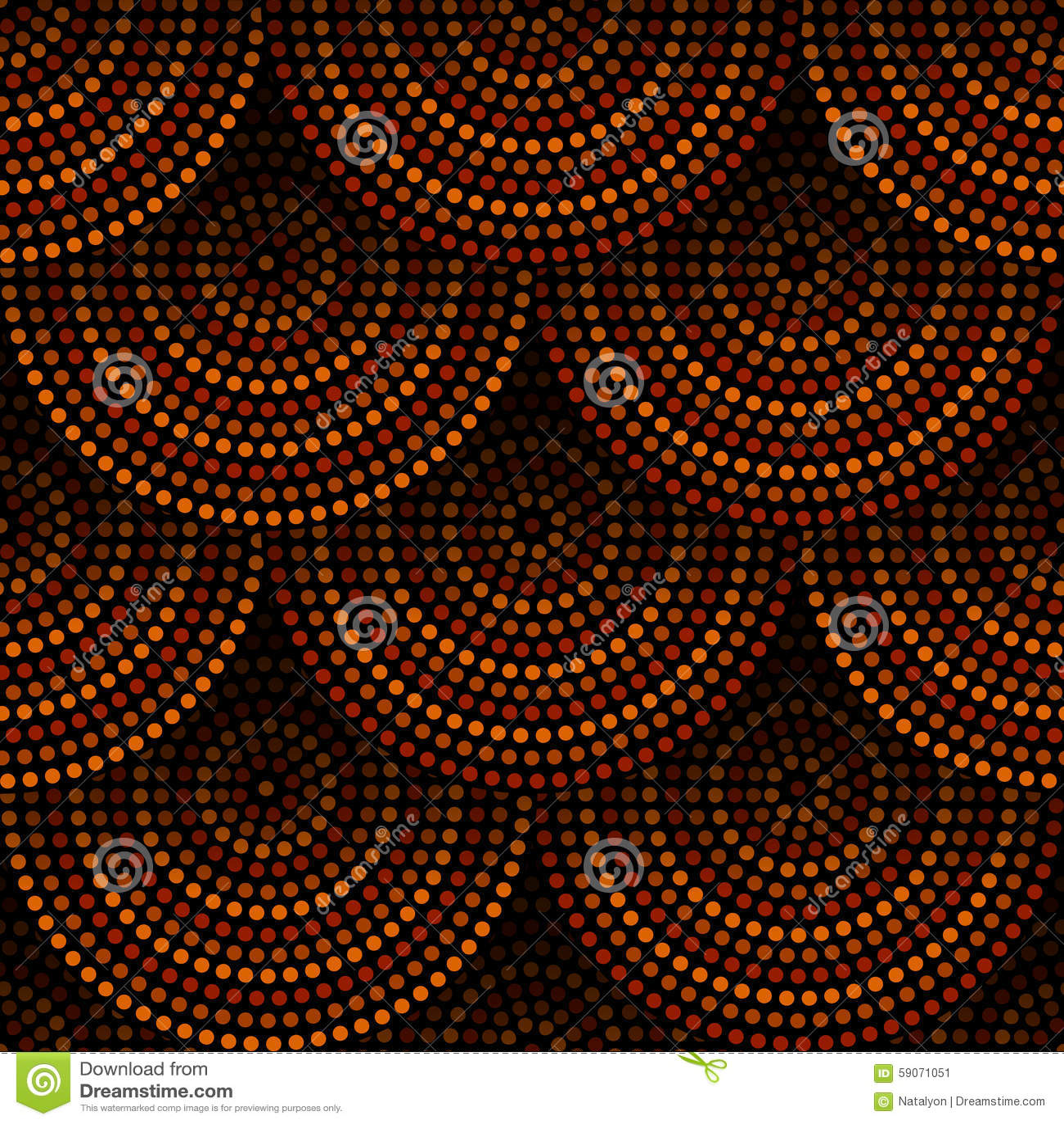 Modelo inconsútil geométrico aborigen australiano de los círculos concéntricos del arte en marrón y negro anaranjados, vector