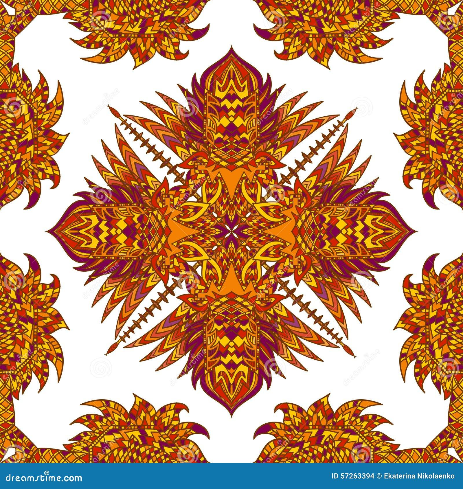 Modelo inconsútil geométrico azteca del vector Fondo con un ornamento latinoamericano