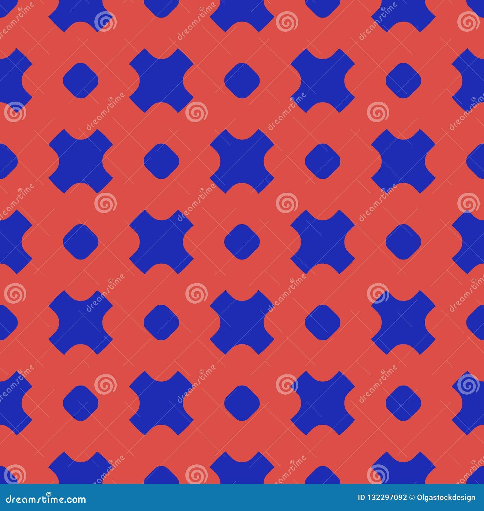 Modelo inconsútil geométrico del vector colorido con los círculos, cruces