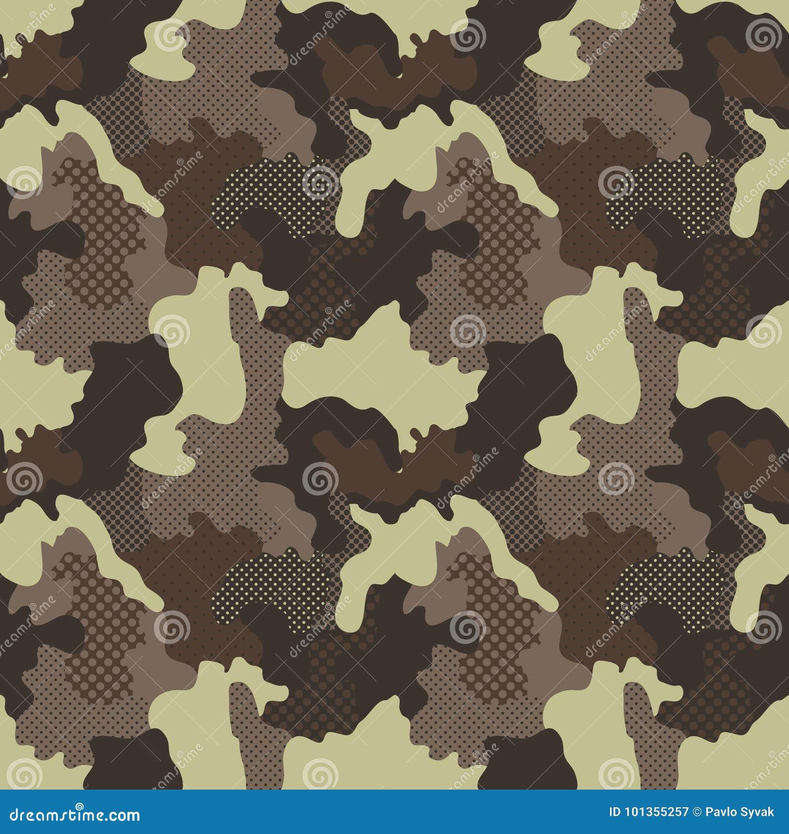 Modelo Inconsútil Militar Fondo Del Camuflaje Textura De La Moda ...